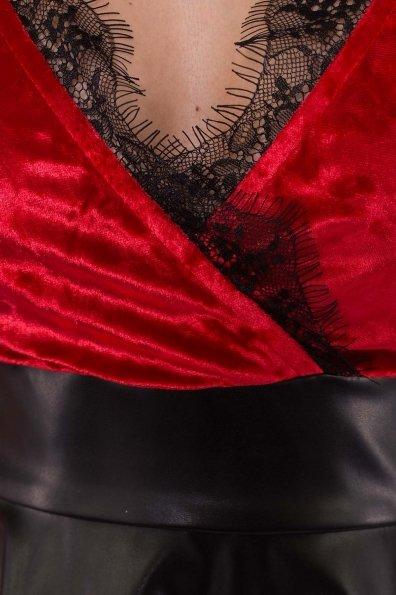 Платье Вайра 6111 Цвет: Красный/черный