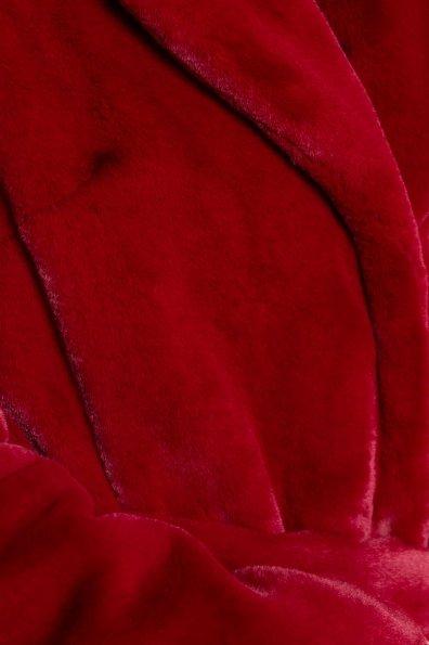 Эко шуба красного цвета Субира 4287 Цвет: Марсала