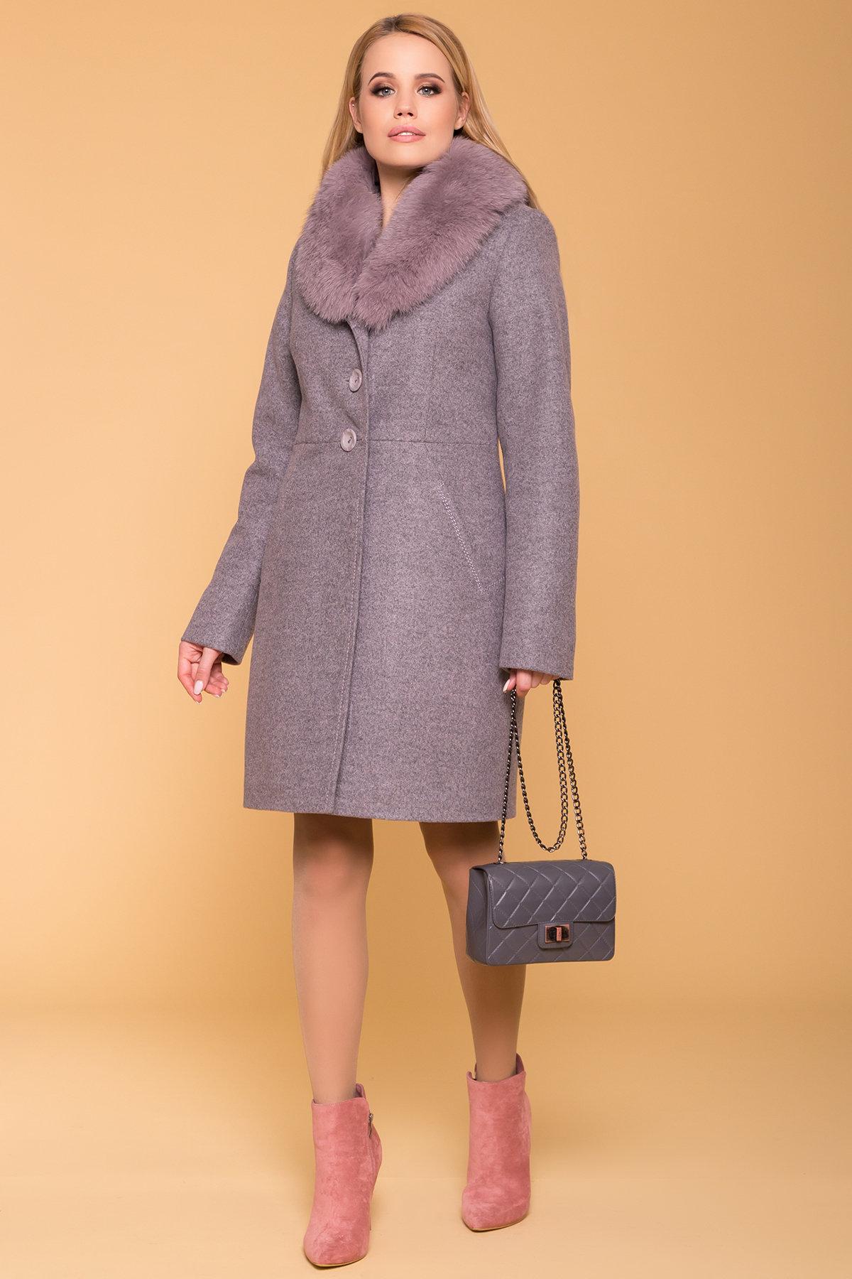 Пальто зима Камила 5611 АРТ. 40711 Цвет: Серо-розовый 19 - фото 4, интернет магазин tm-modus.ru