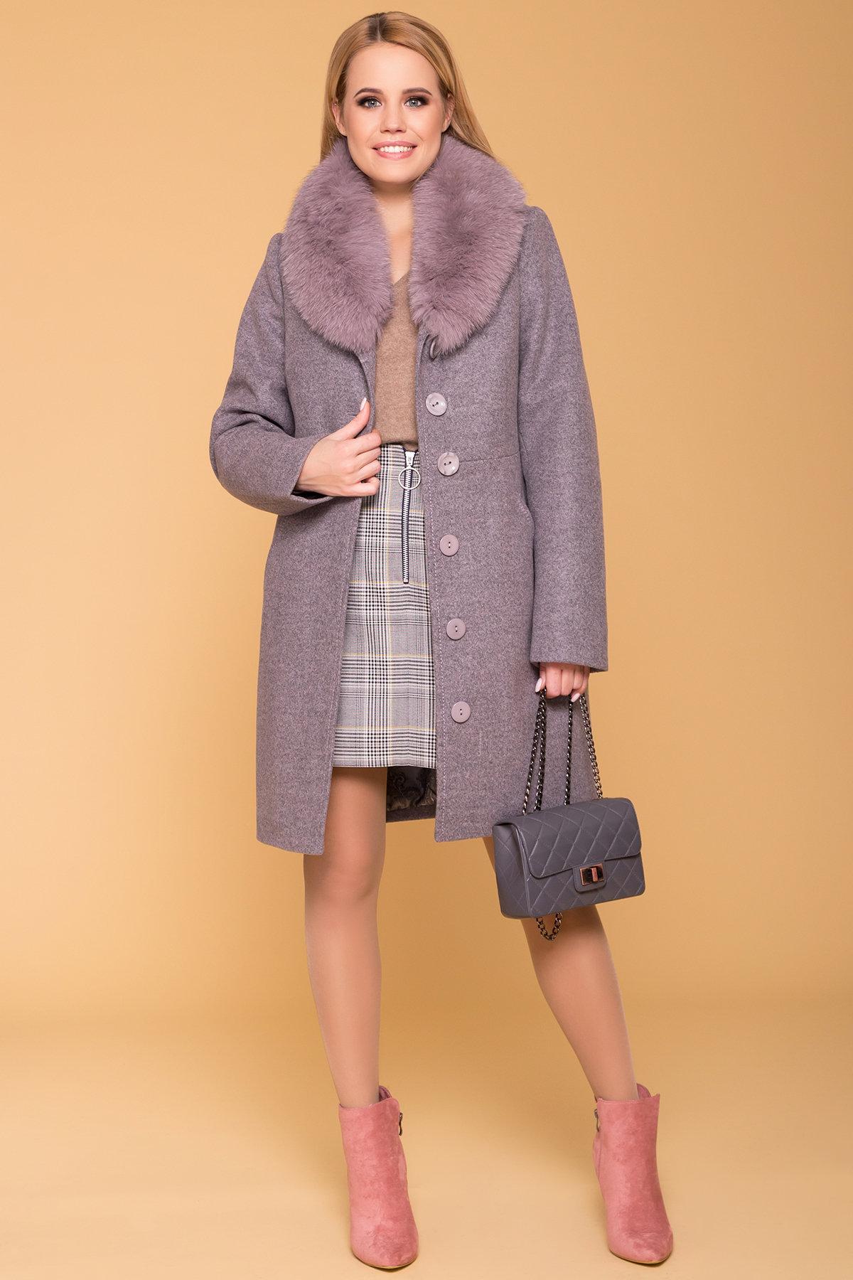 Пальто зима Камила 5611 АРТ. 40711 Цвет: Серо-розовый 19 - фото 3, интернет магазин tm-modus.ru