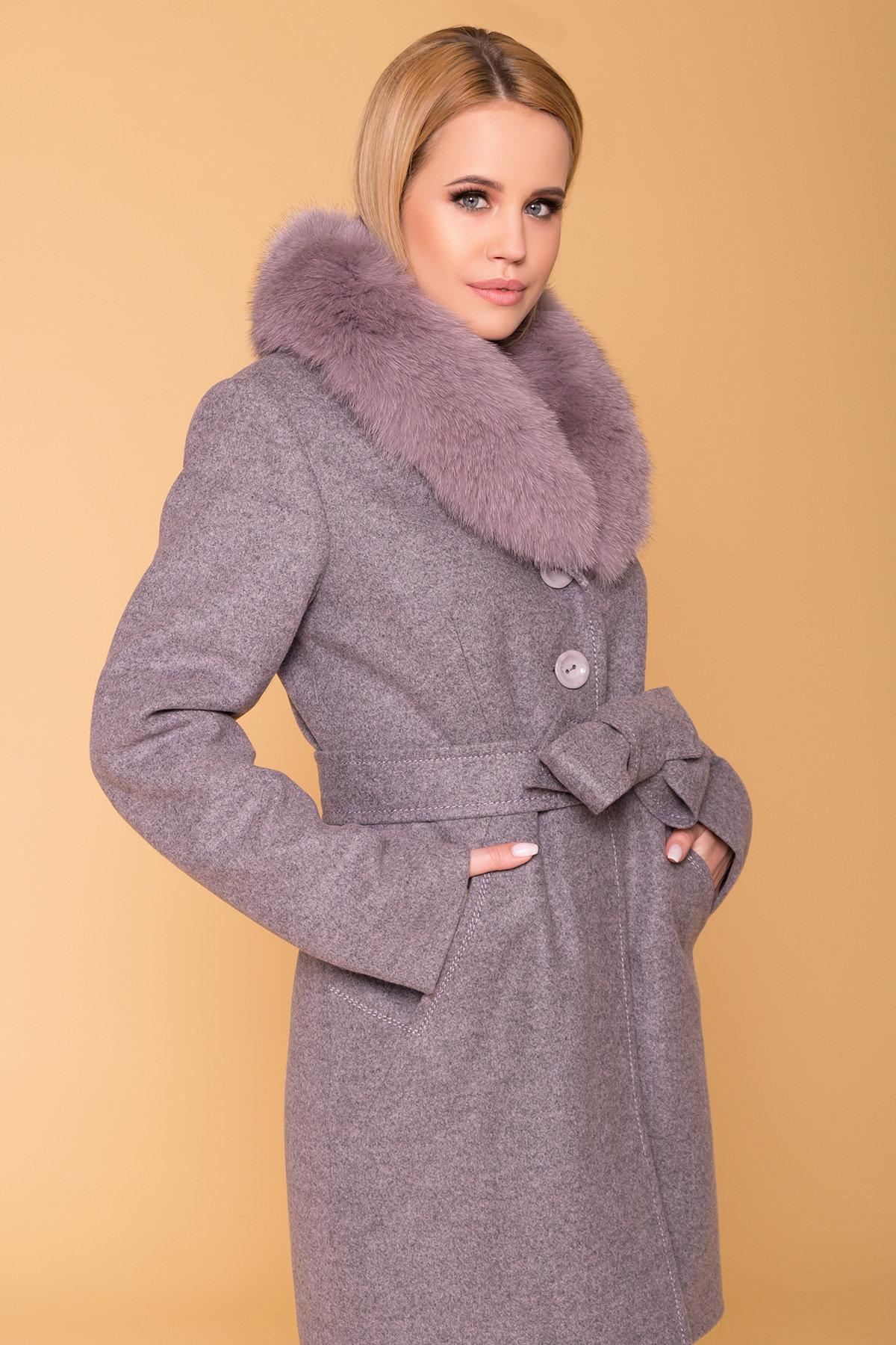Пальто зима Камила 5611 АРТ. 40711 Цвет: Серо-розовый 19 - фото 5, интернет магазин tm-modus.ru
