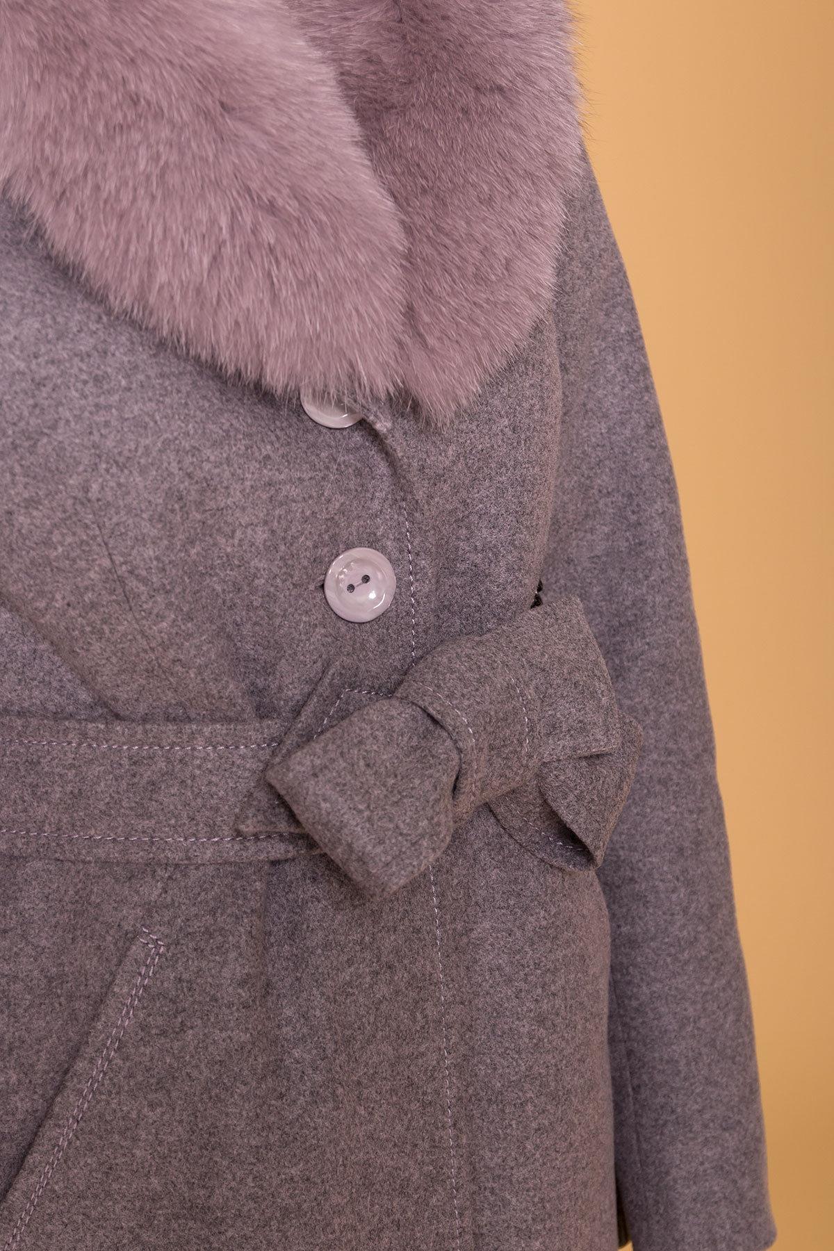 Пальто зима Камила 5611 АРТ. 40711 Цвет: Серо-розовый 19 - фото 6, интернет магазин tm-modus.ru