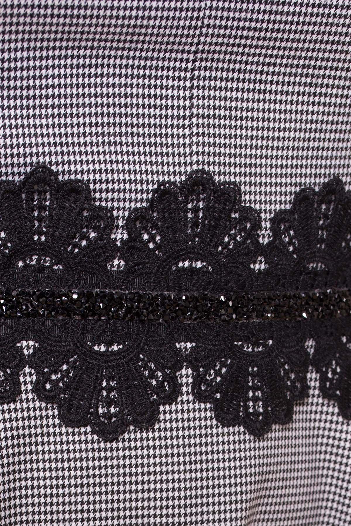 Платье с юбкой-солнце Акуна 6263 АРТ. 41029 Цвет: Черный/белый2/1 Гусин лап - фото 4, интернет магазин tm-modus.ru