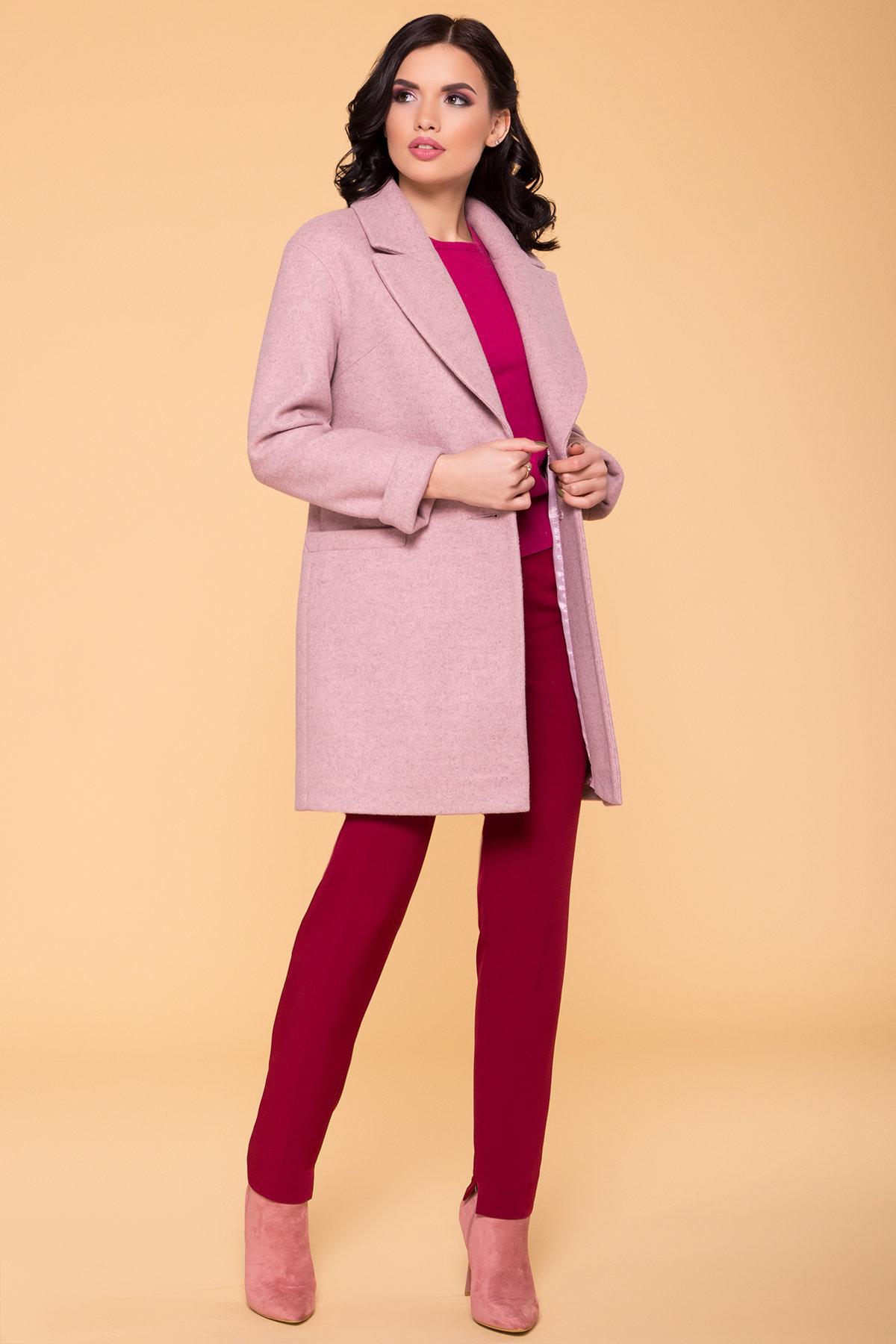 Пальто Вива 5536 Цвет: Серо-розовый 7