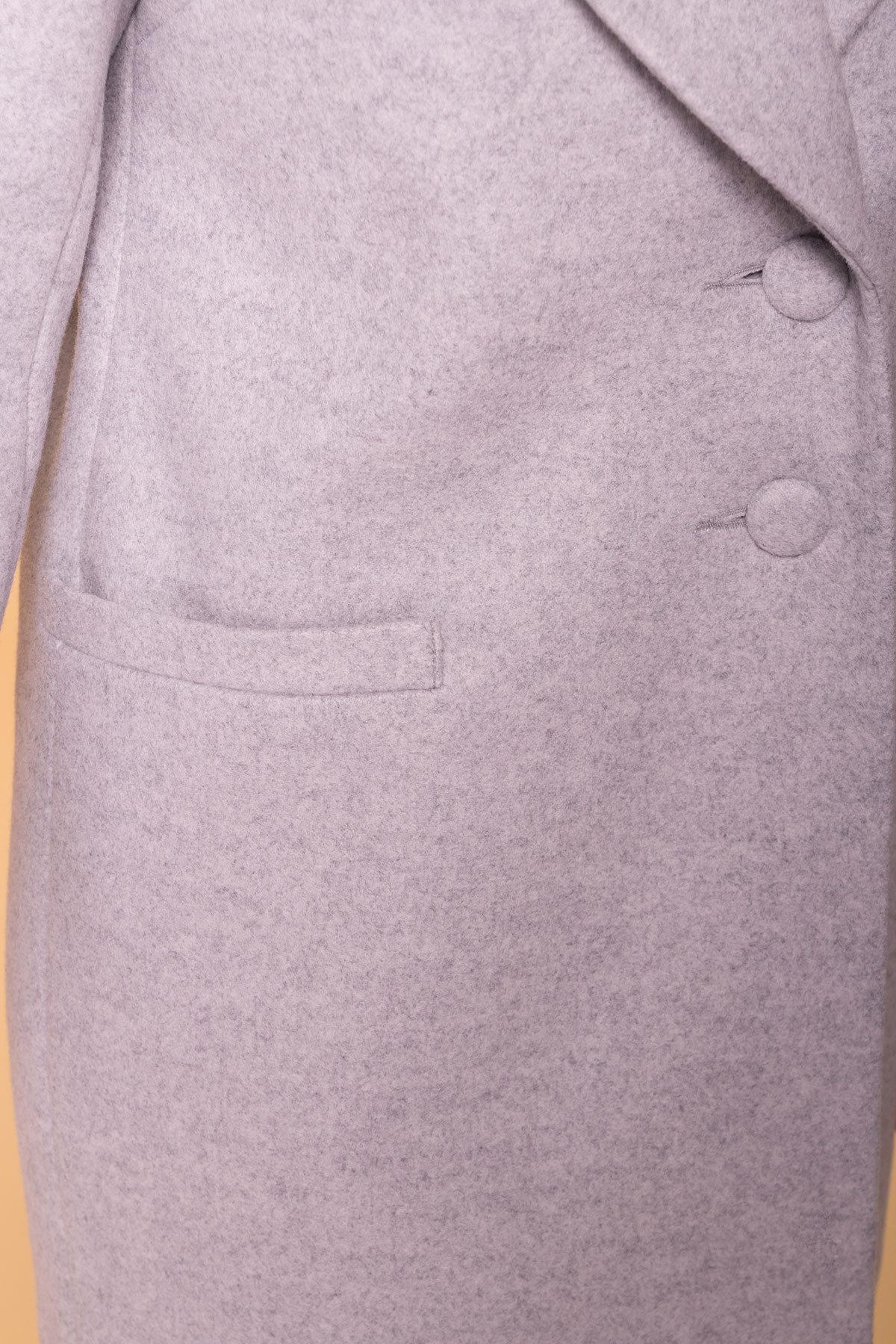 Пальто Вива 5536 Цвет: Серый Светлый 27