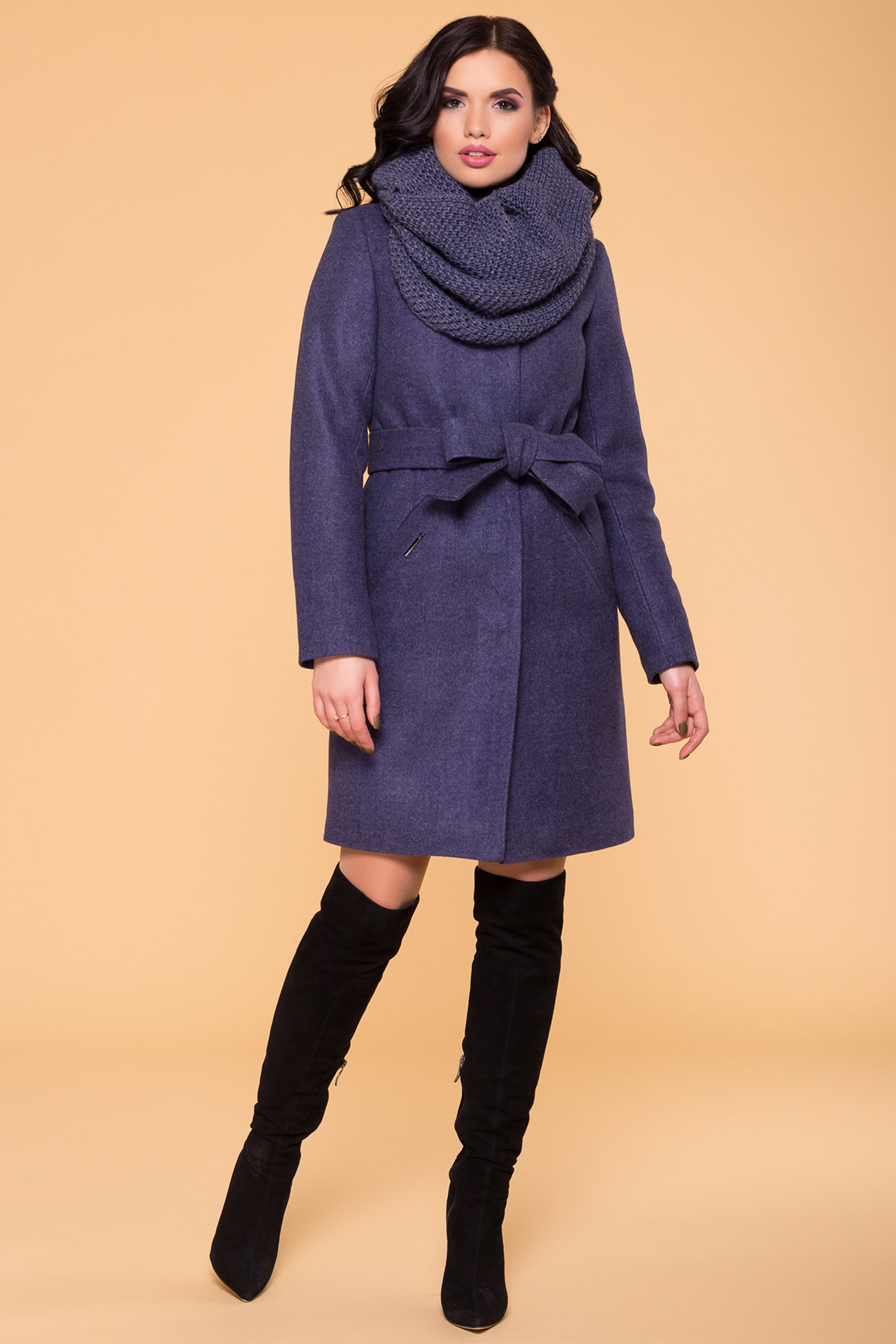 Купить женское зимнее пальто в Украине Modus Пальто зима (шарф-хомут в комплекте) Люцея 5884