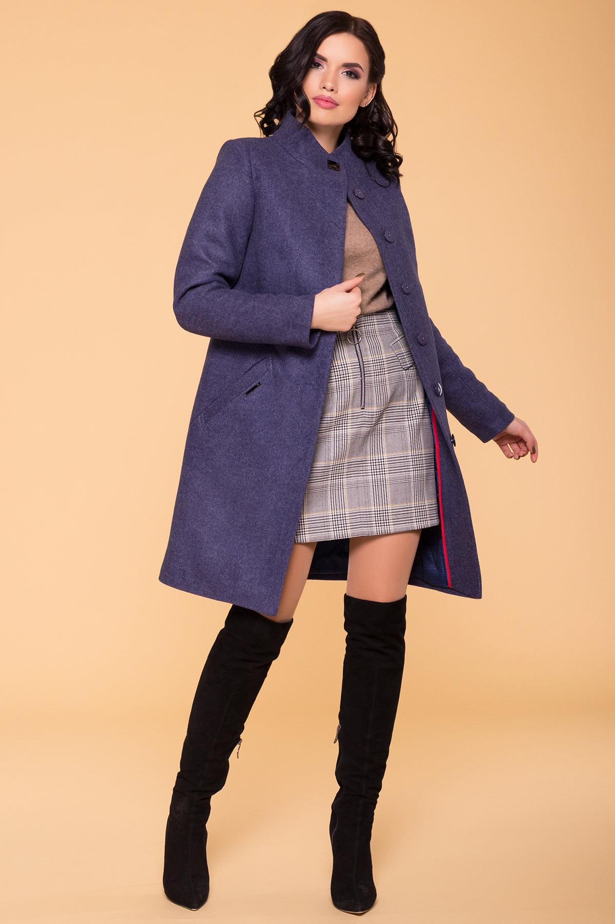 Пальто зима (шарф-хомут в комплекте) Люцея 5884 АРТ. 39421 Цвет: Джинс 57 - фото 3, интернет магазин tm-modus.ru
