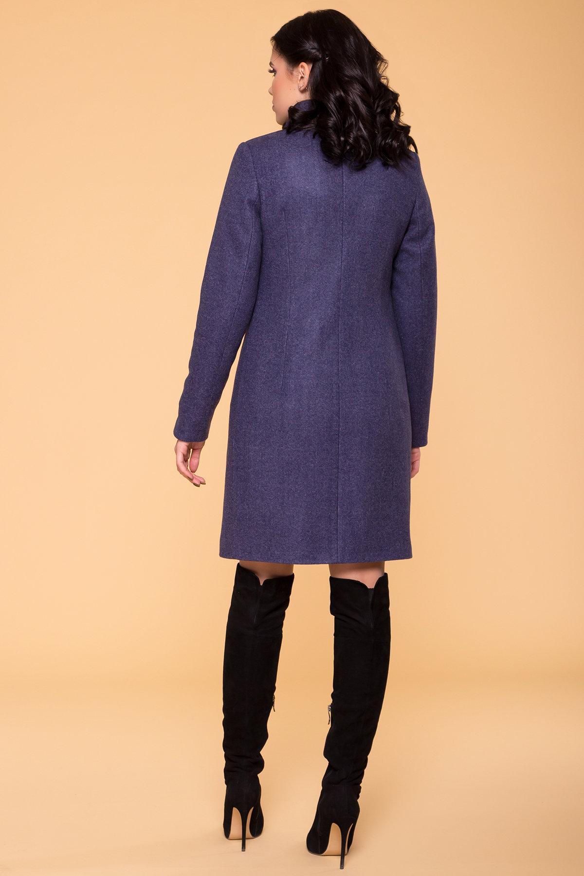 Пальто зима (шарф-хомут в комплекте) Люцея 5884 АРТ. 39421 Цвет: Джинс 57 - фото 2, интернет магазин tm-modus.ru
