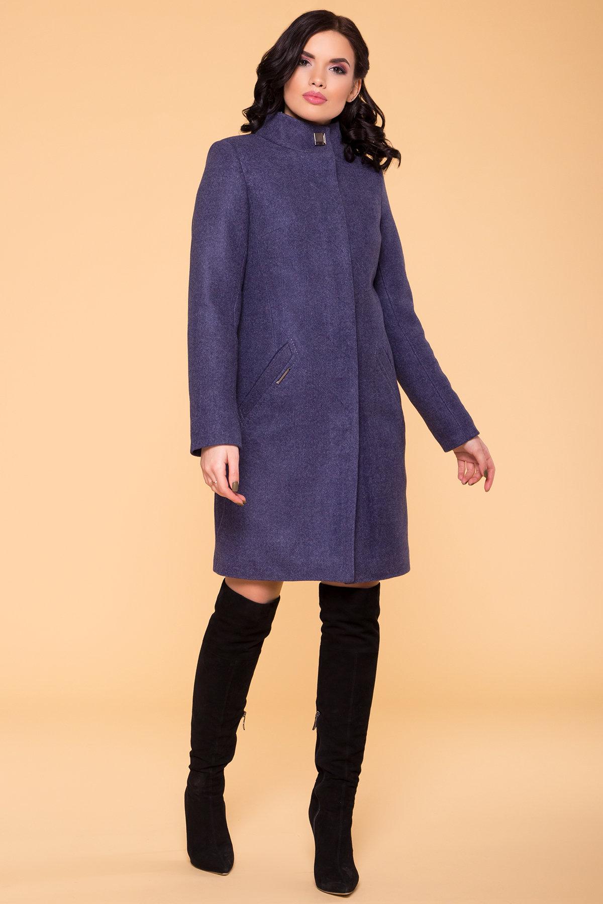 Пальто зима (шарф-хомут в комплекте) Люцея 5884 АРТ. 39421 Цвет: Джинс 57 - фото 4, интернет магазин tm-modus.ru