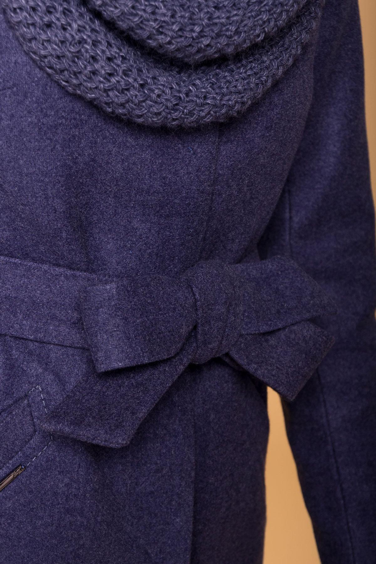 Пальто зима (шарф-хомут в комплекте) Люцея 5884 АРТ. 39421 Цвет: Джинс 57 - фото 6, интернет магазин tm-modus.ru