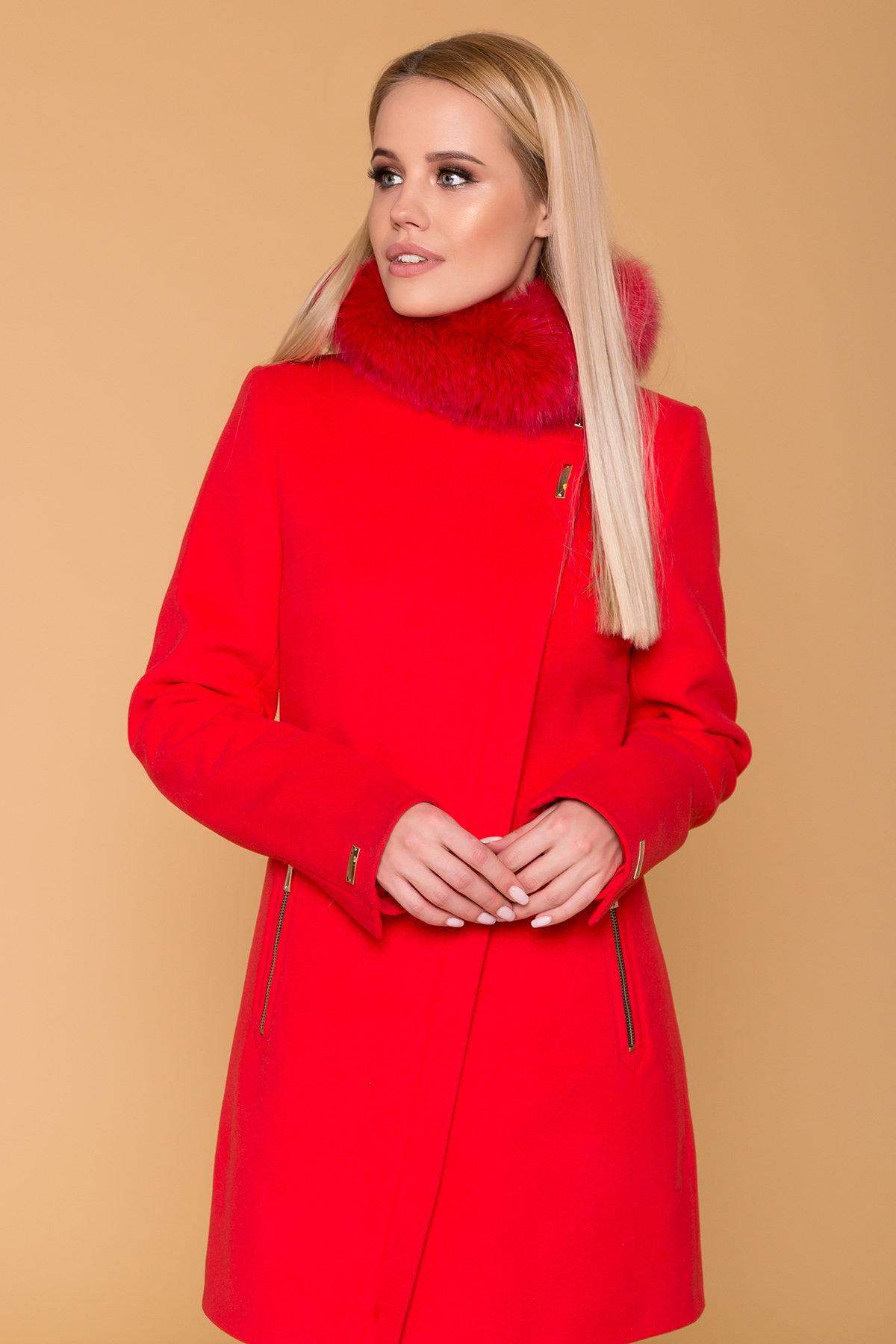 Пальто зима Эльпассо 1216 Цвет: Красный