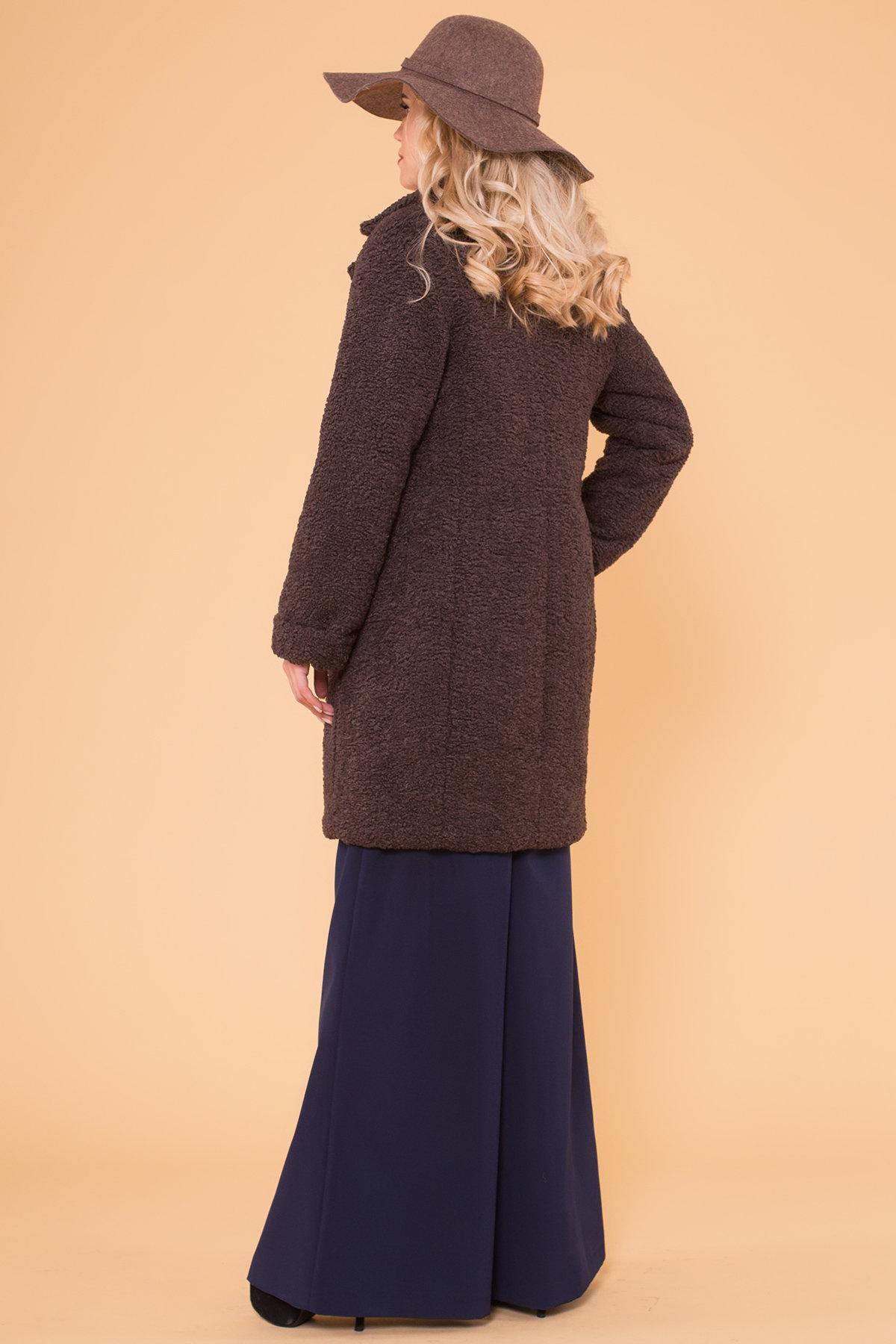 Пальто меховое зима Приора 6011 АРТ. 40971 Цвет: Шоколад - фото 2, интернет магазин tm-modus.ru