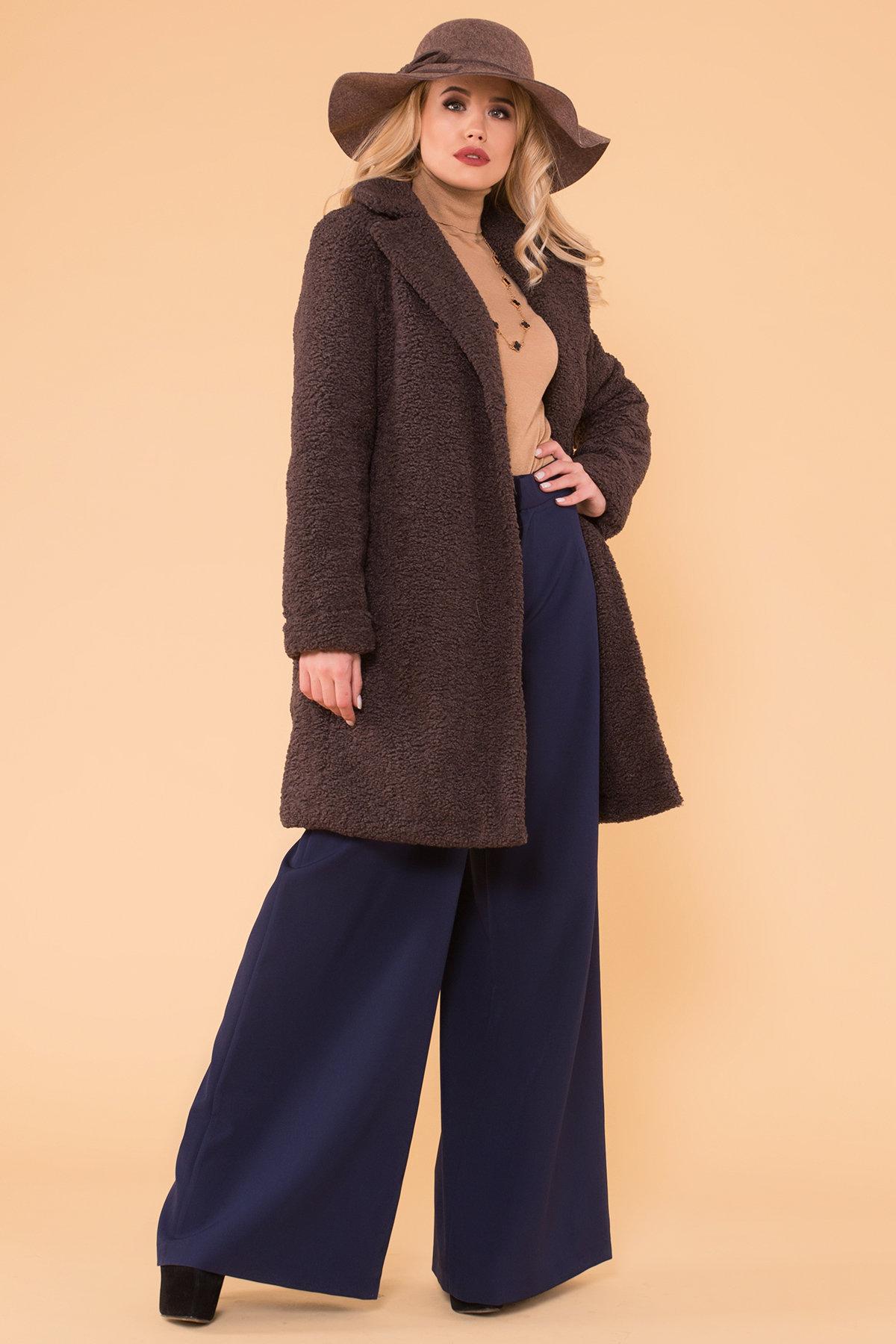Пальто меховое зима Приора 6011 АРТ. 40971 Цвет: Шоколад - фото 3, интернет магазин tm-modus.ru