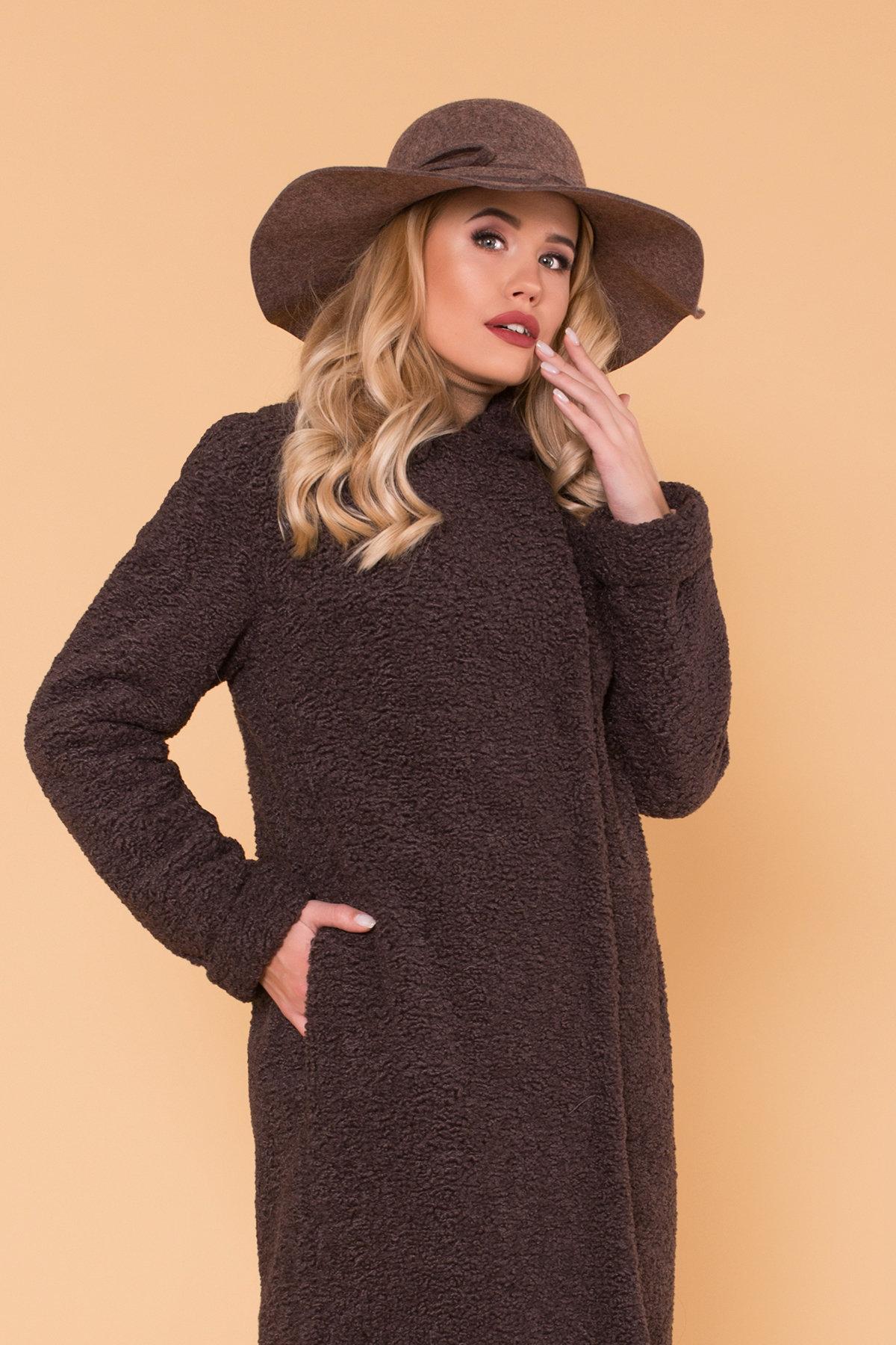Пальто меховое зима Приора 6011 Цвет: Шоколад
