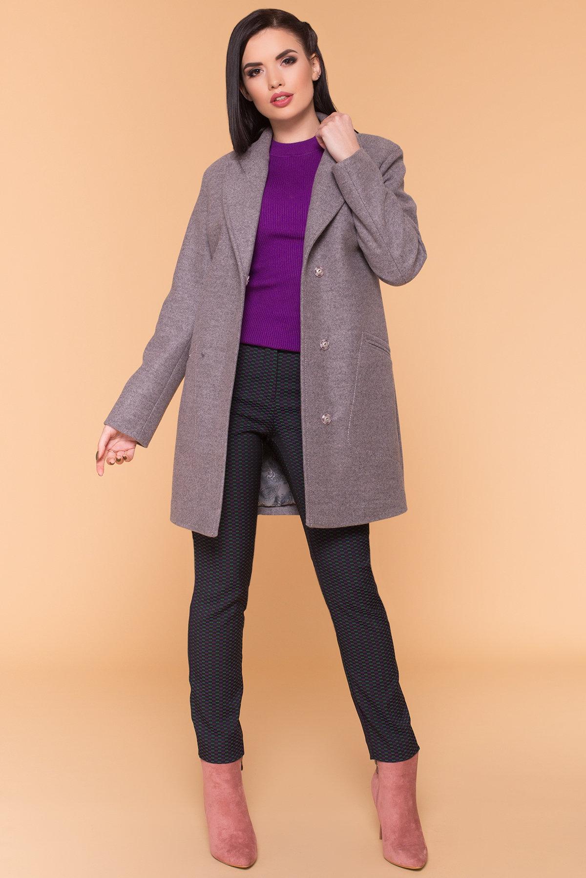 Пальто Ждана Лайт 6231 АРТ. 40990 Цвет: Серо-розовый 19 - фото 3, интернет магазин tm-modus.ru