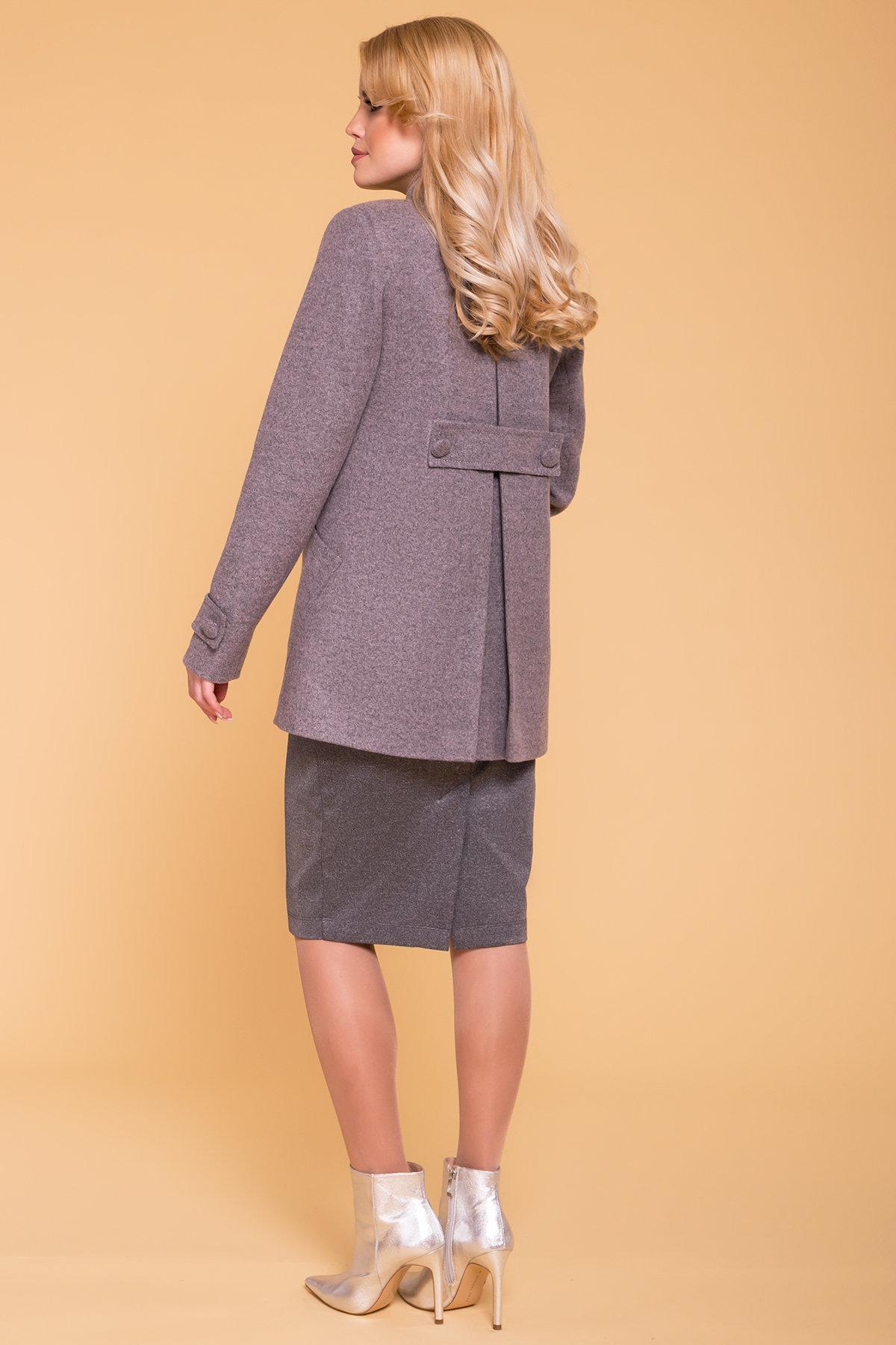 Пальто Латте 5636 Цвет: Серый/розовый