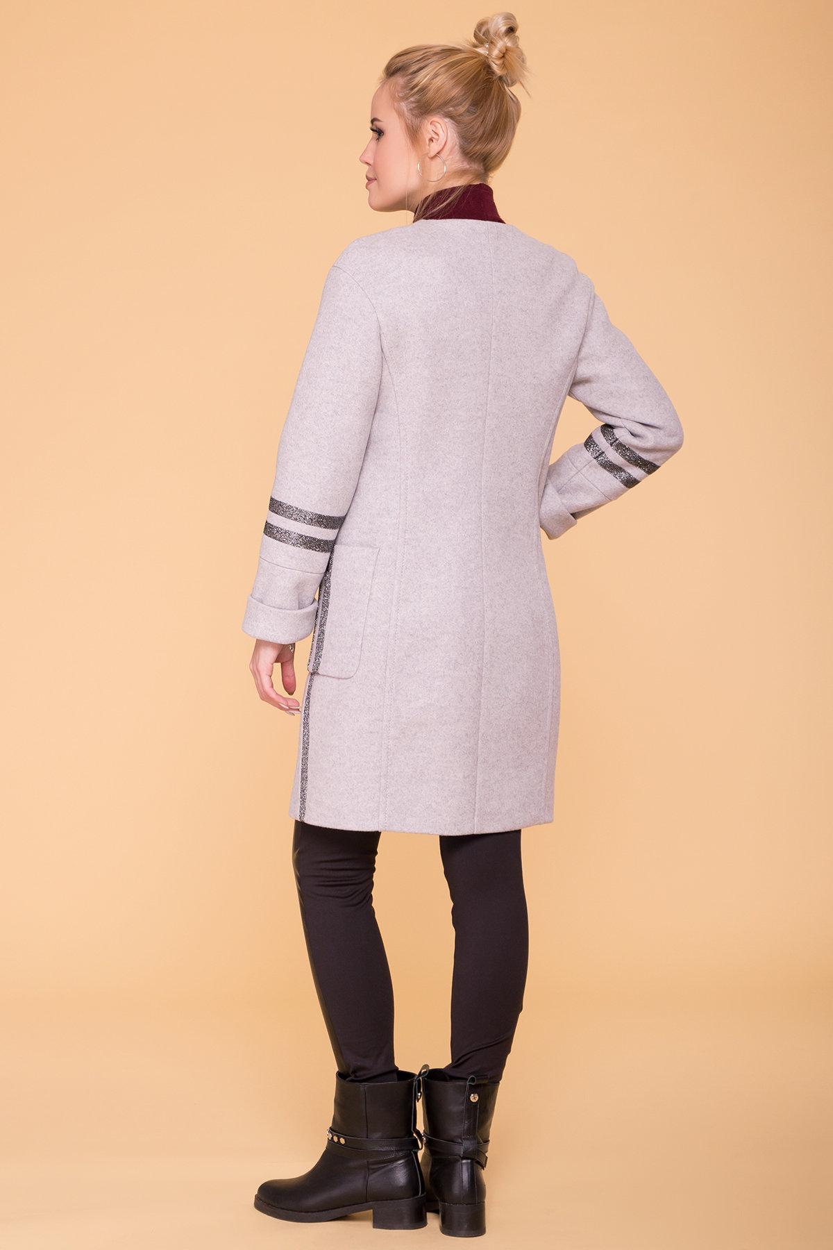 Пальто Приоритет лайт 6307 АРТ. 41093 Цвет: Серый Светлый 27 - фото 2, интернет магазин tm-modus.ru