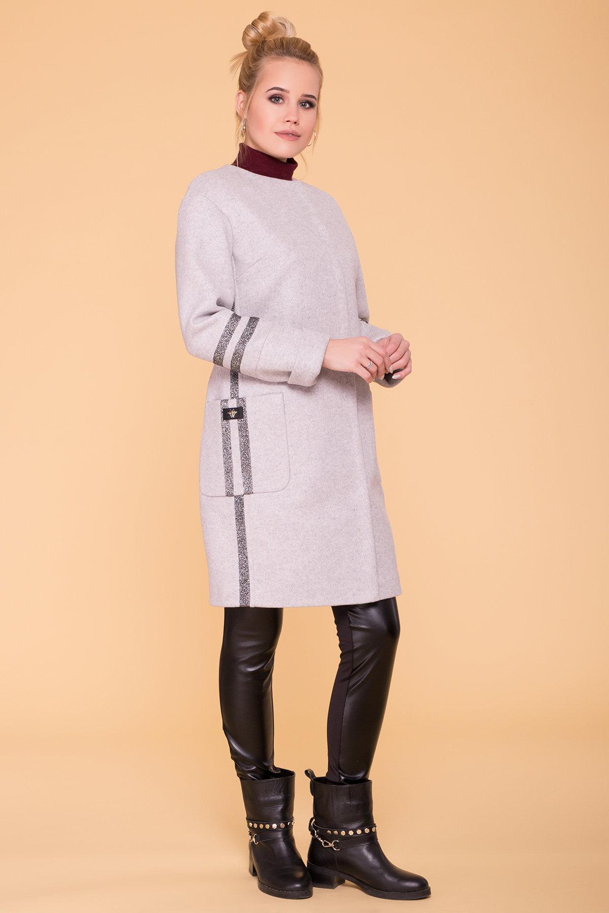 Пальто Приоритет лайт 6307 АРТ. 41093 Цвет: Серый Светлый 27 - фото 4, интернет магазин tm-modus.ru
