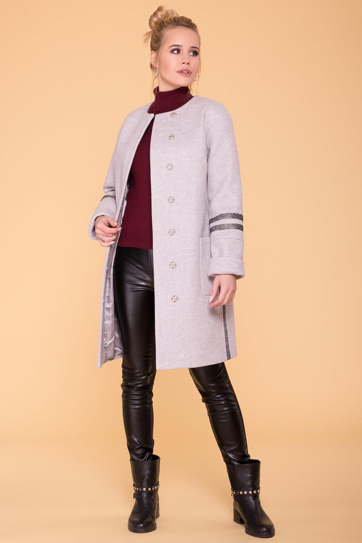 Пальто Приоритет лайт 6307 АРТ. 41093 Цвет: Серый Светлый 27 - фото 3, интернет магазин tm-modus.ru