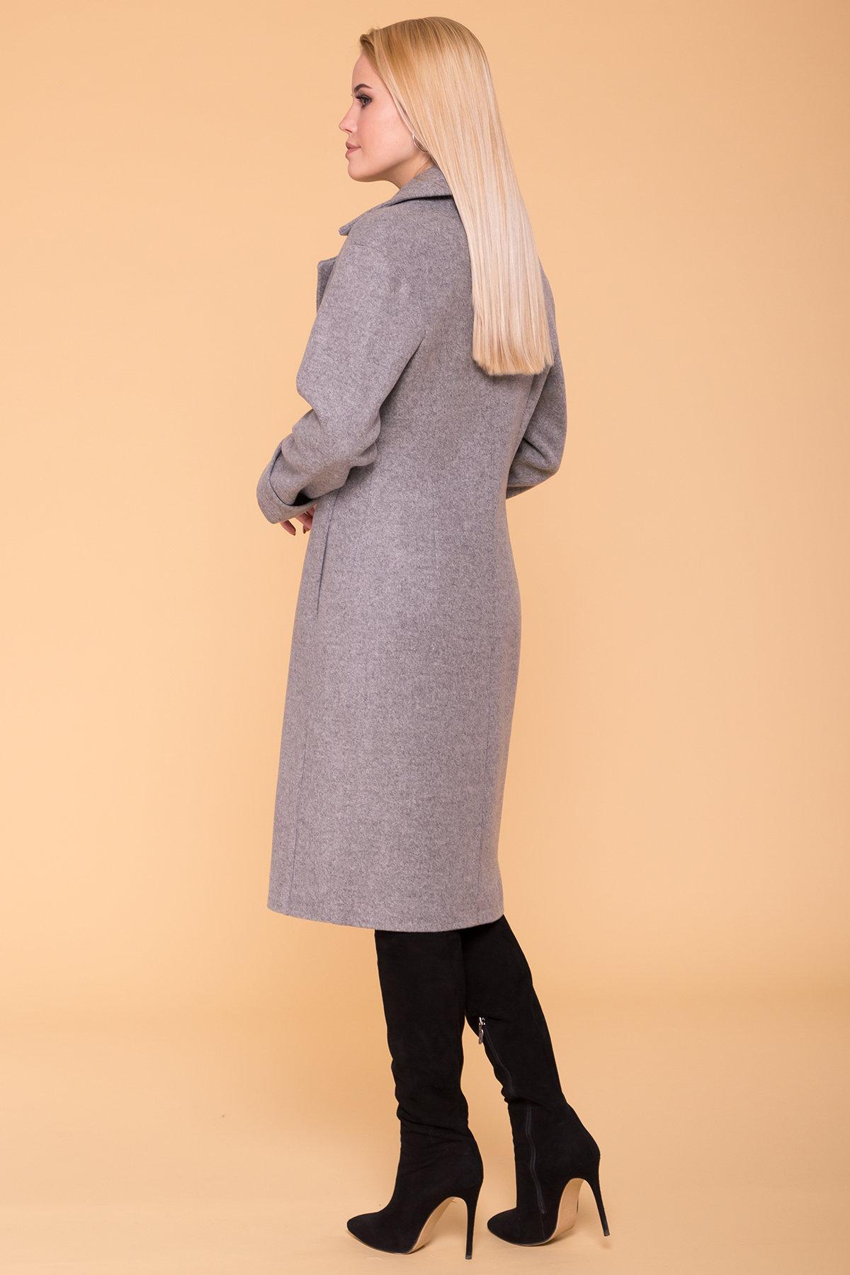Демисезонное пальто Месси 6226 АРТ. 41053 Цвет: Серый Светлый 1 - фото 2, интернет магазин tm-modus.ru