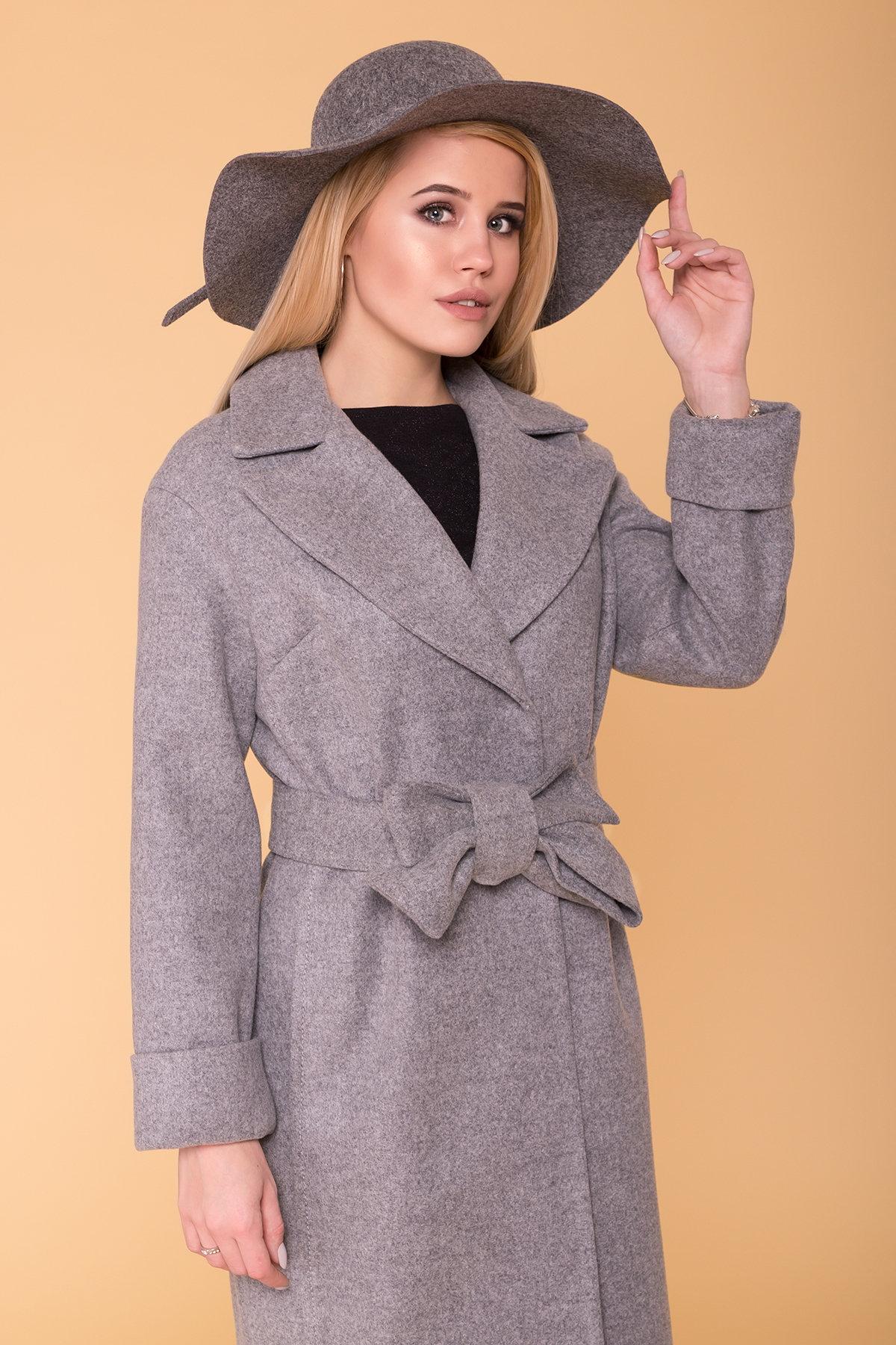 Демисезонное пальто Месси 6226 Цвет: Серый Светлый 1