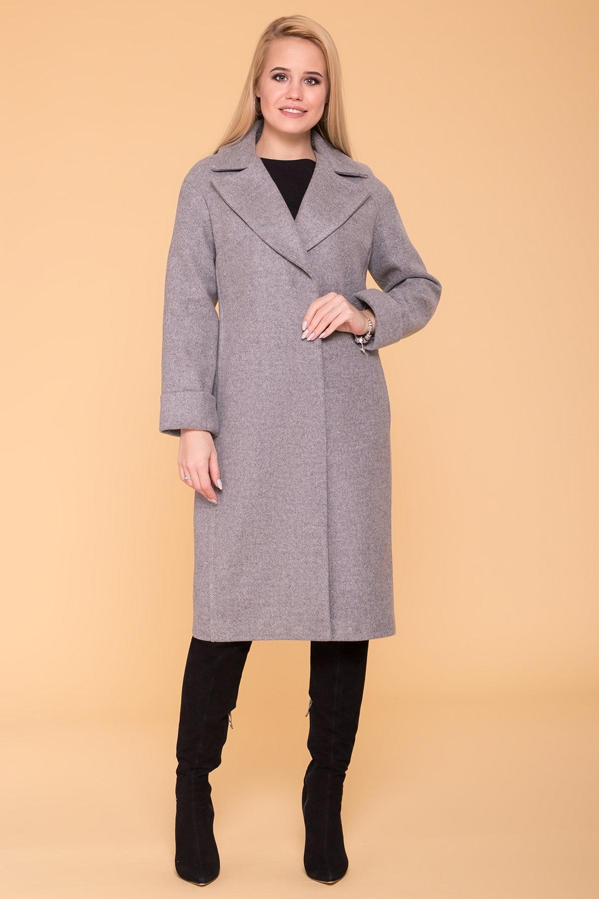 Демисезонное пальто Месси 6226 АРТ. 41053 Цвет: Серый Светлый 1 - фото 4, интернет магазин tm-modus.ru