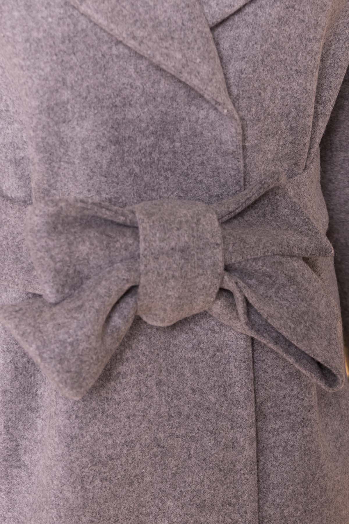 Демисезонное пальто Месси 6226 АРТ. 41053 Цвет: Серый Светлый 1 - фото 6, интернет магазин tm-modus.ru