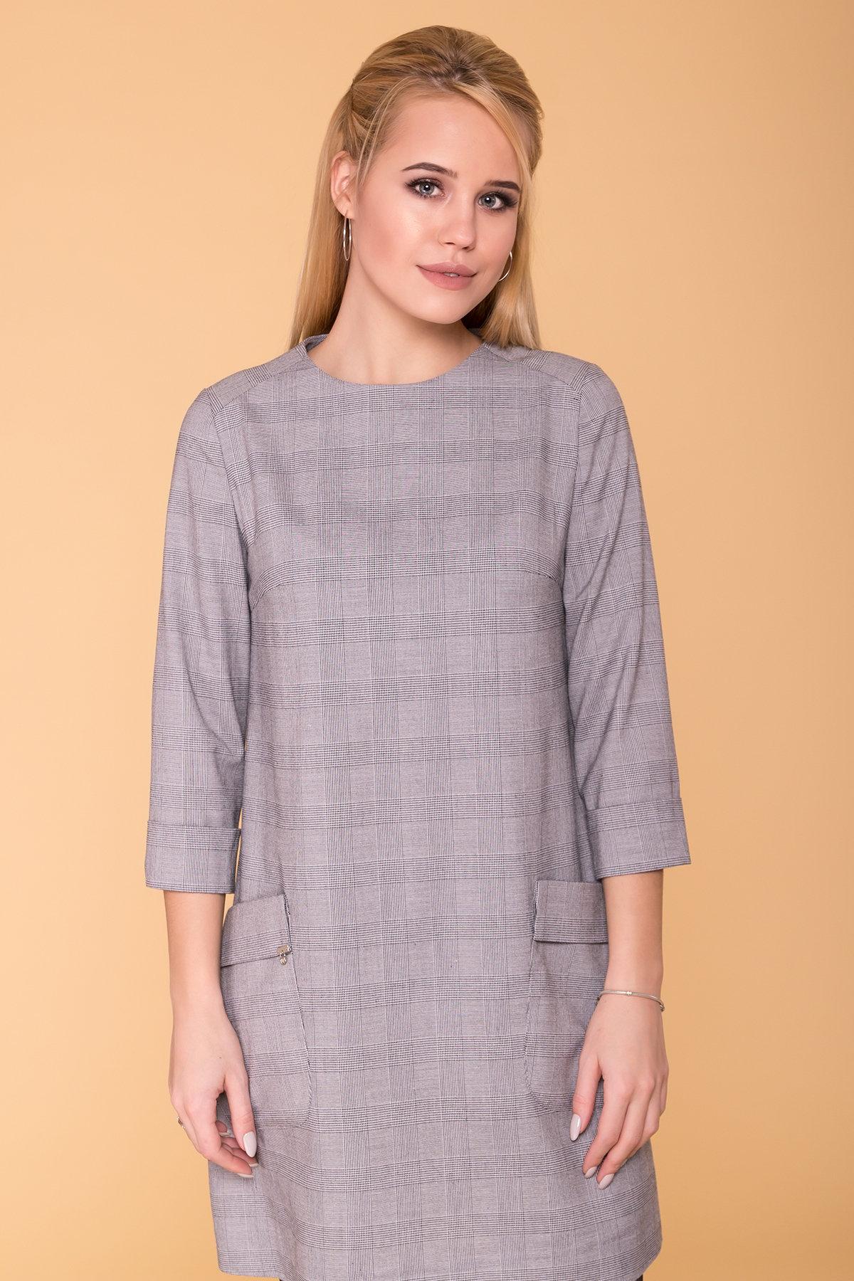 Платье с накладными карманами Соул 6305 АРТ. 41067 Цвет: Серый Светлый - фото 3, интернет магазин tm-modus.ru