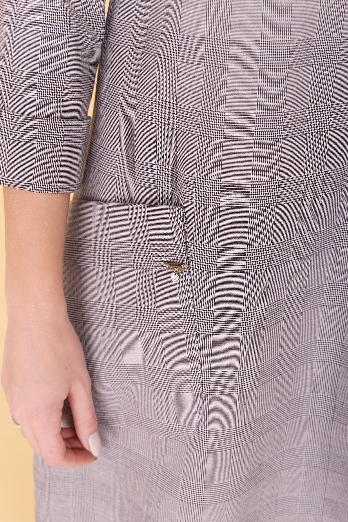 Платье Соул 6305 АРТ. 41067 Цвет: Серый Светлый - фото 4, интернет магазин tm-modus.ru