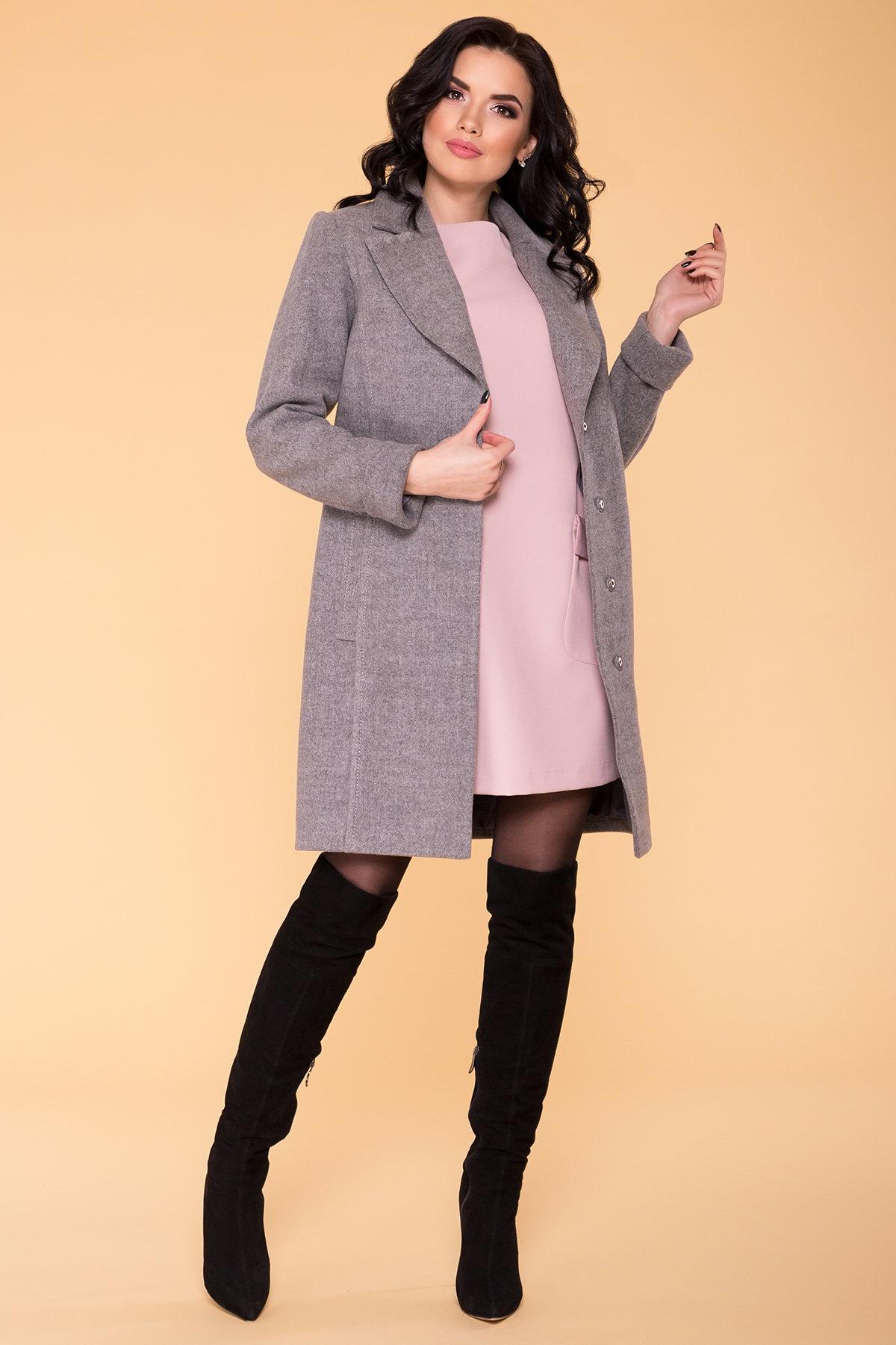 Пальто Лесли 6295 АРТ. 41079 Цвет: Серый 18 - фото 3, интернет магазин tm-modus.ru