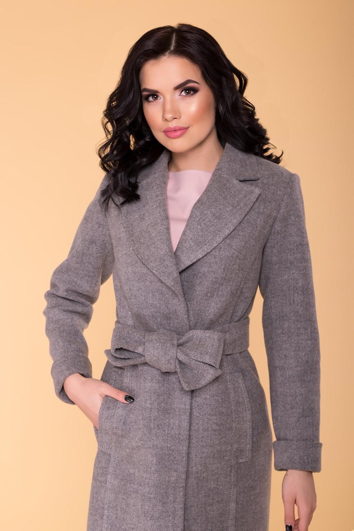 Пальто Лесли 6295 АРТ. 41079 Цвет: Серый 18 - фото 5, интернет магазин tm-modus.ru