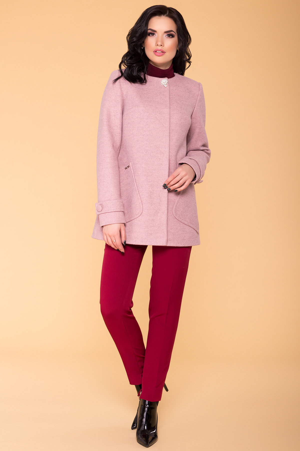 Демисезонное женское пальто от Modus Пальто Латте 5637