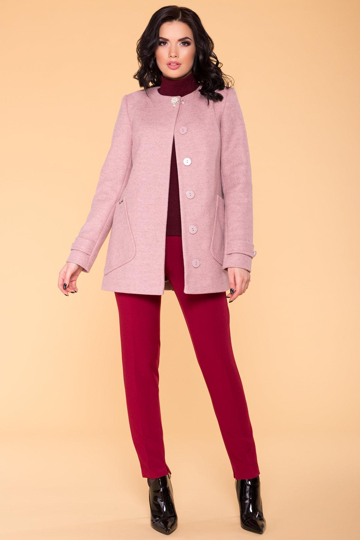 Пальто Латте 5637 АРТ. 41008 Цвет: Серо-розовый 7 - фото 3, интернет магазин tm-modus.ru
