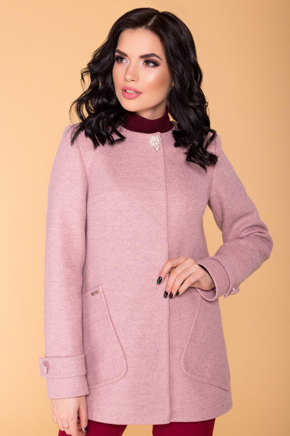 Пальто Латте 5637 АРТ. 41008 Цвет: Серо-розовый 7 - фото 4, интернет магазин tm-modus.ru