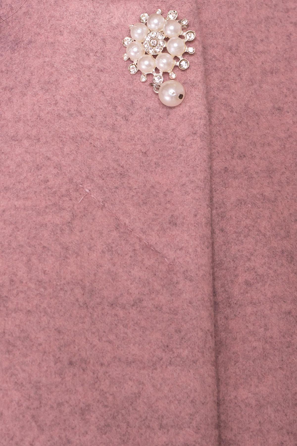Пальто Латте 5637 АРТ. 41008 Цвет: Серо-розовый 7 - фото 5, интернет магазин tm-modus.ru