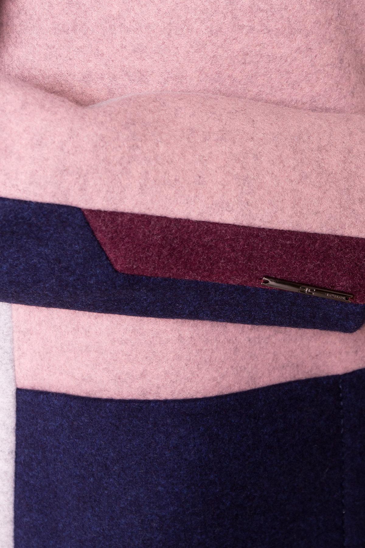 Пальто Пейдж 6183 Цвет: Серый/роз 7/т.синий 17