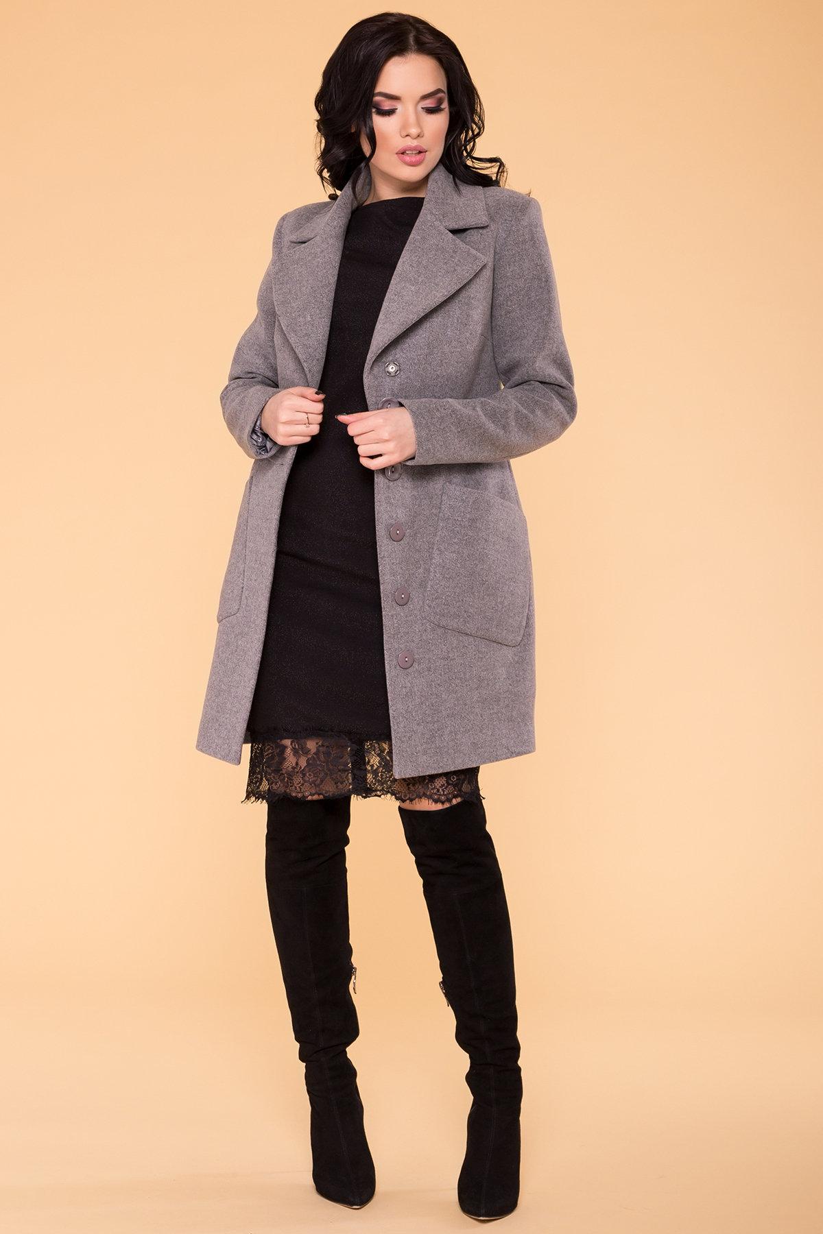 Пальто Габриэлла 4417 АРТ. 21204 Цвет: Серый 18 - фото 3, интернет магазин tm-modus.ru