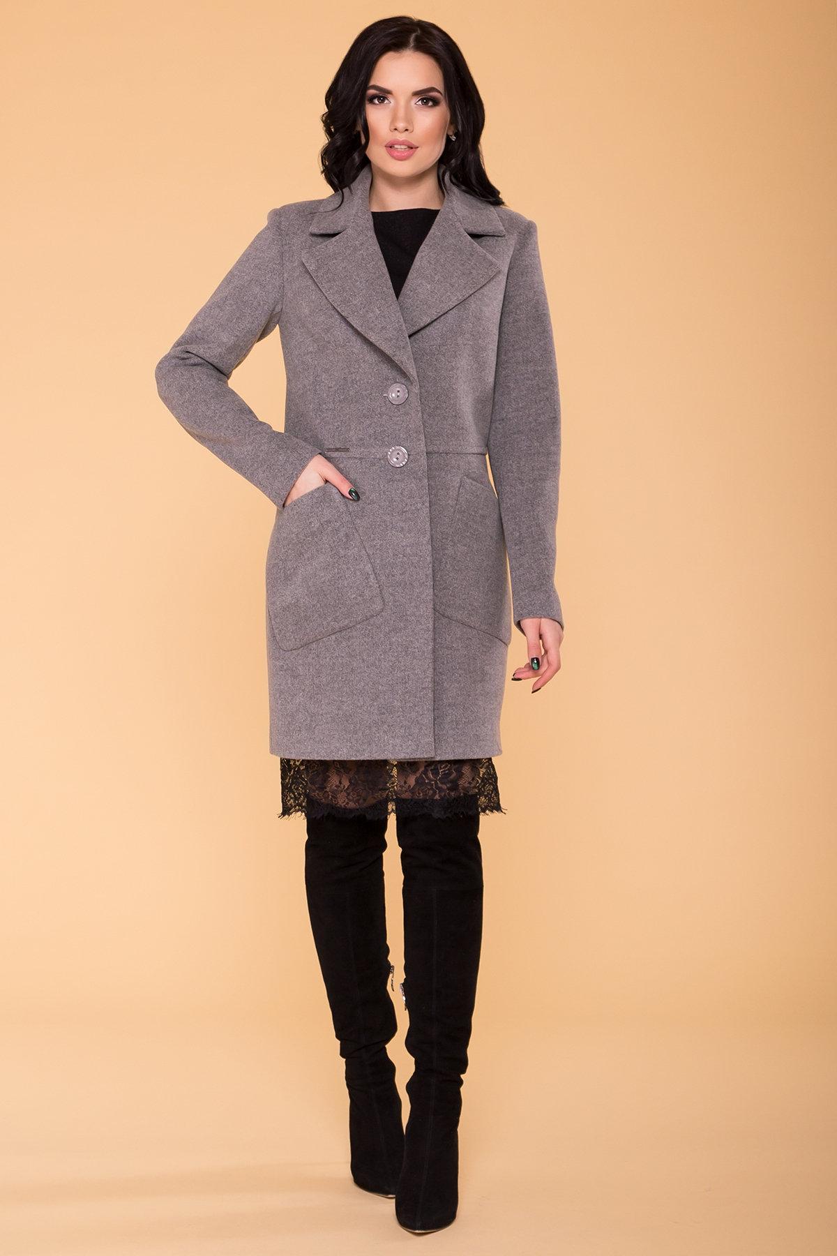 Пальто Габриэлла 4417 АРТ. 21204 Цвет: Серый 18 - фото 4, интернет магазин tm-modus.ru