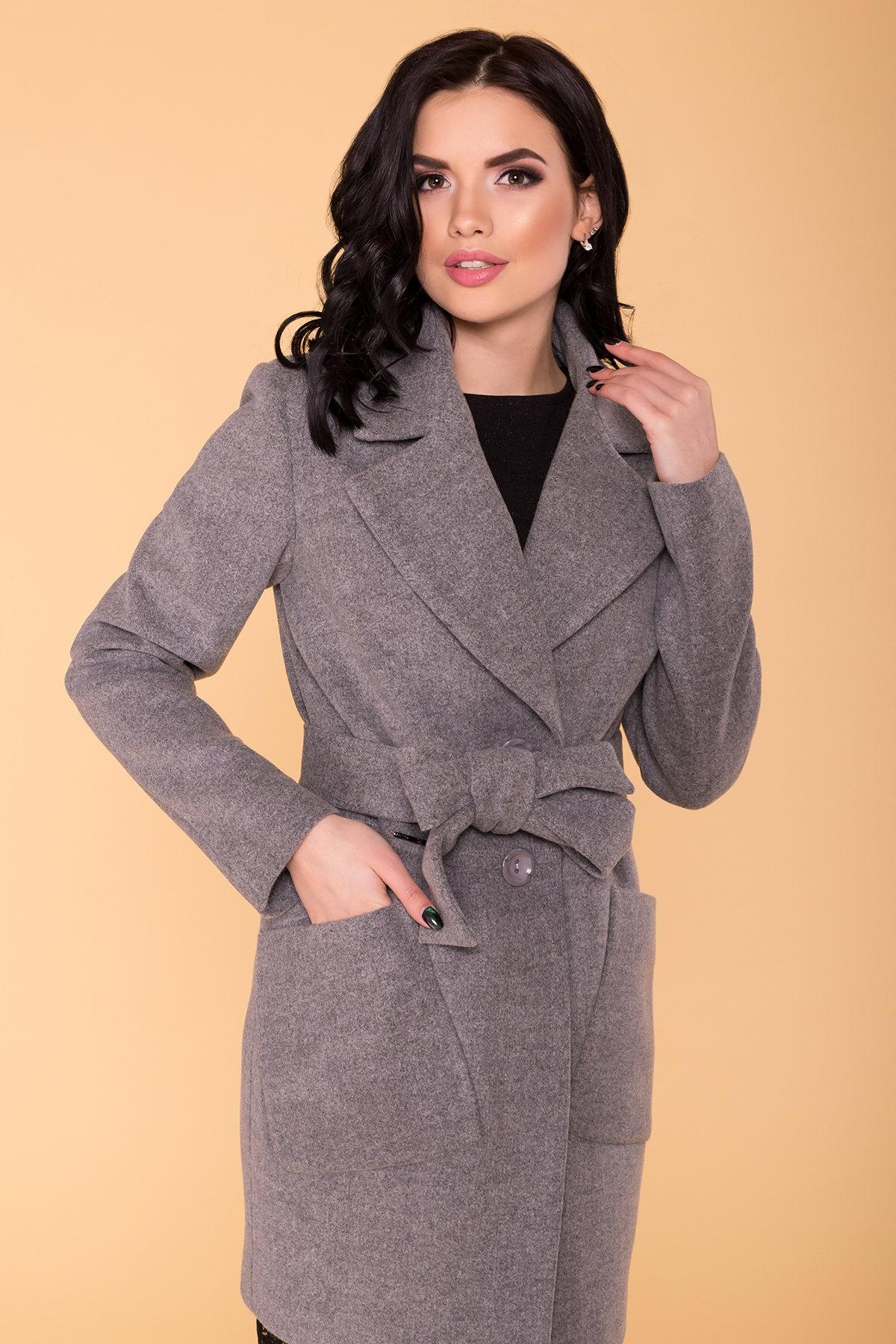 Пальто Габриэлла 4417 АРТ. 21204 Цвет: Серый 18 - фото 5, интернет магазин tm-modus.ru