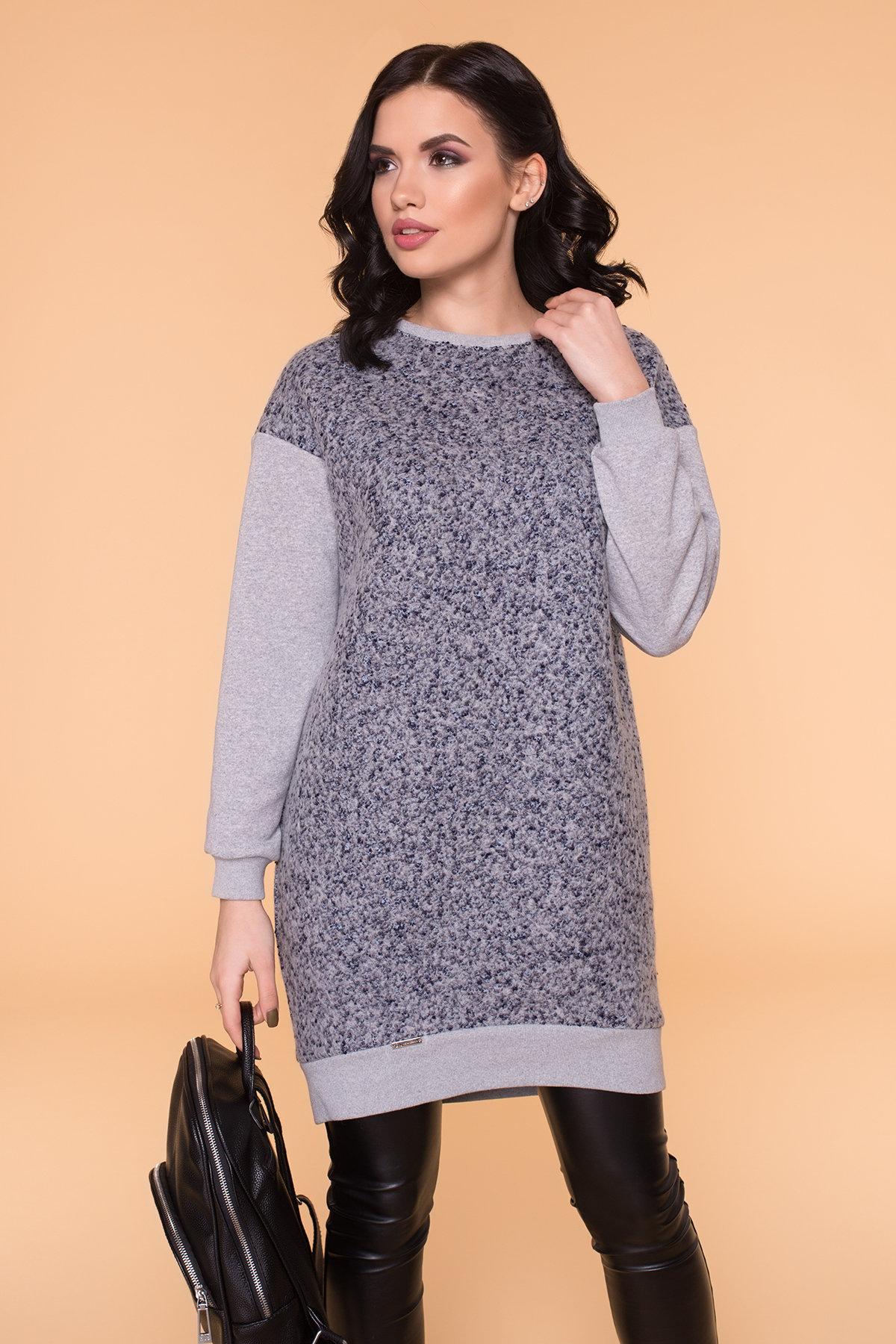 Платье Сорри 6266 АРТ. 41100 Цвет: Серый Св/серый - фото 2, интернет магазин tm-modus.ru