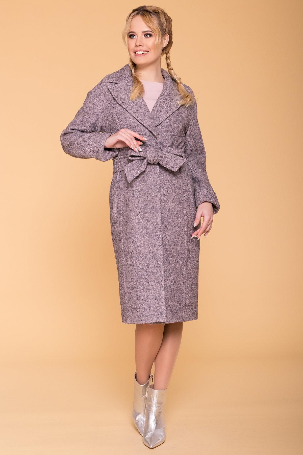 Пальто весна-осень c приспущенной линией плеча Фентези лайт 6365 АРТ. 41230 Цвет: Серо-розовый LW-25 - фото 3, интернет магазин tm-modus.ru