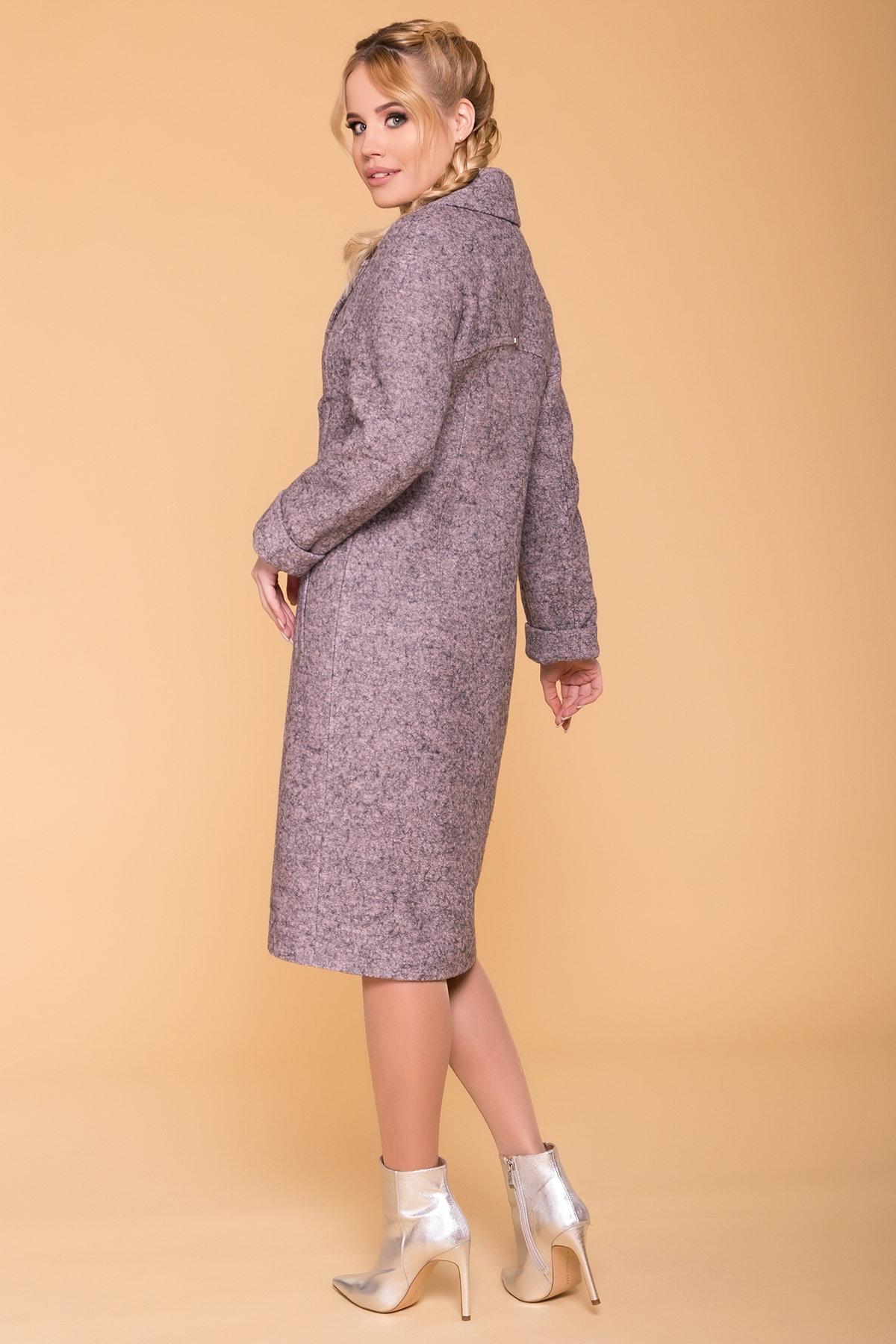 Пальто весна-осень c приспущенной линией плеча Фентези лайт 6365 АРТ. 41230 Цвет: Серо-розовый LW-25 - фото 6, интернет магазин tm-modus.ru
