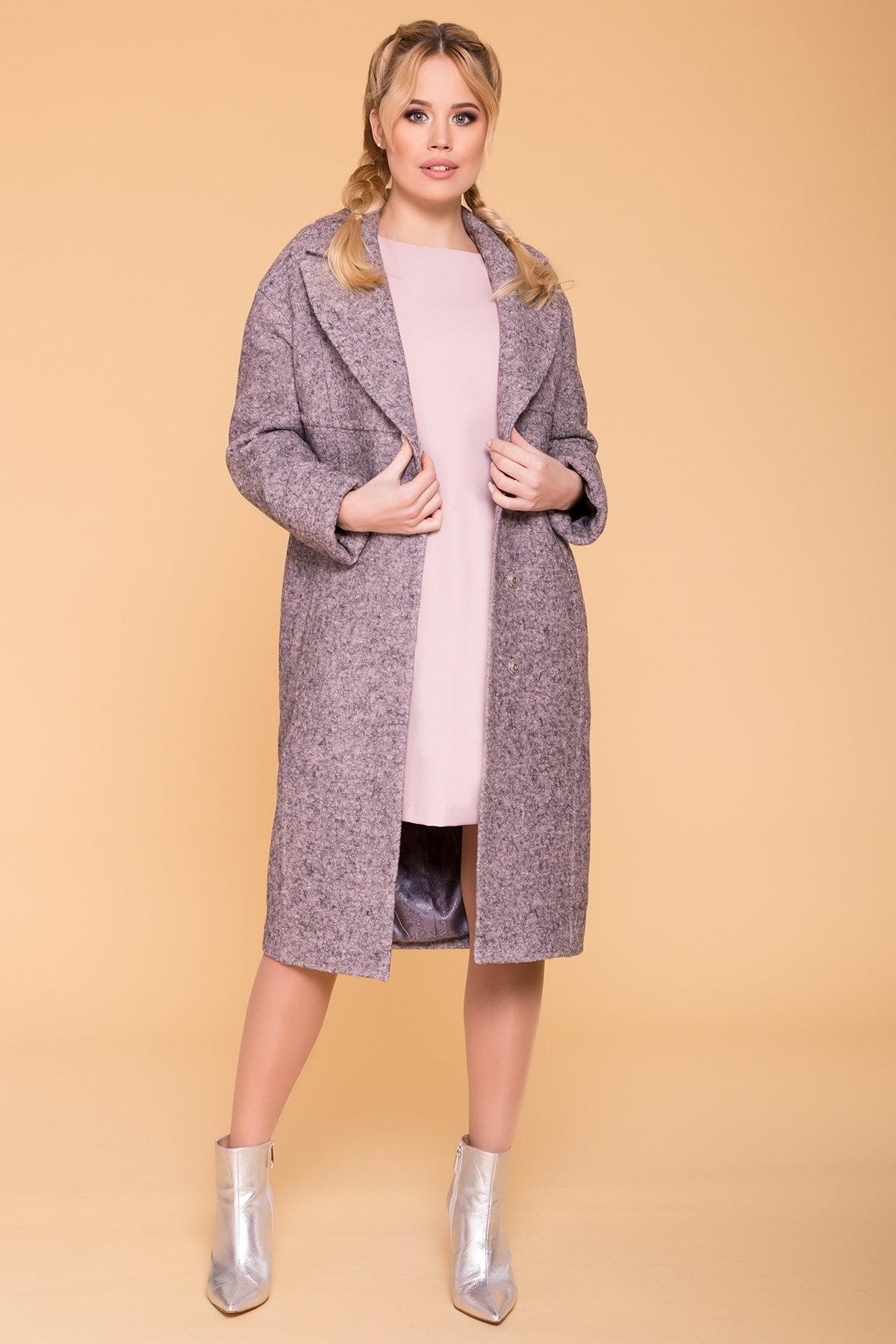 Пальто весна-осень c приспущенной линией плеча Фентези лайт 6365 АРТ. 41230 Цвет: Серо-розовый LW-25 - фото 9, интернет магазин tm-modus.ru