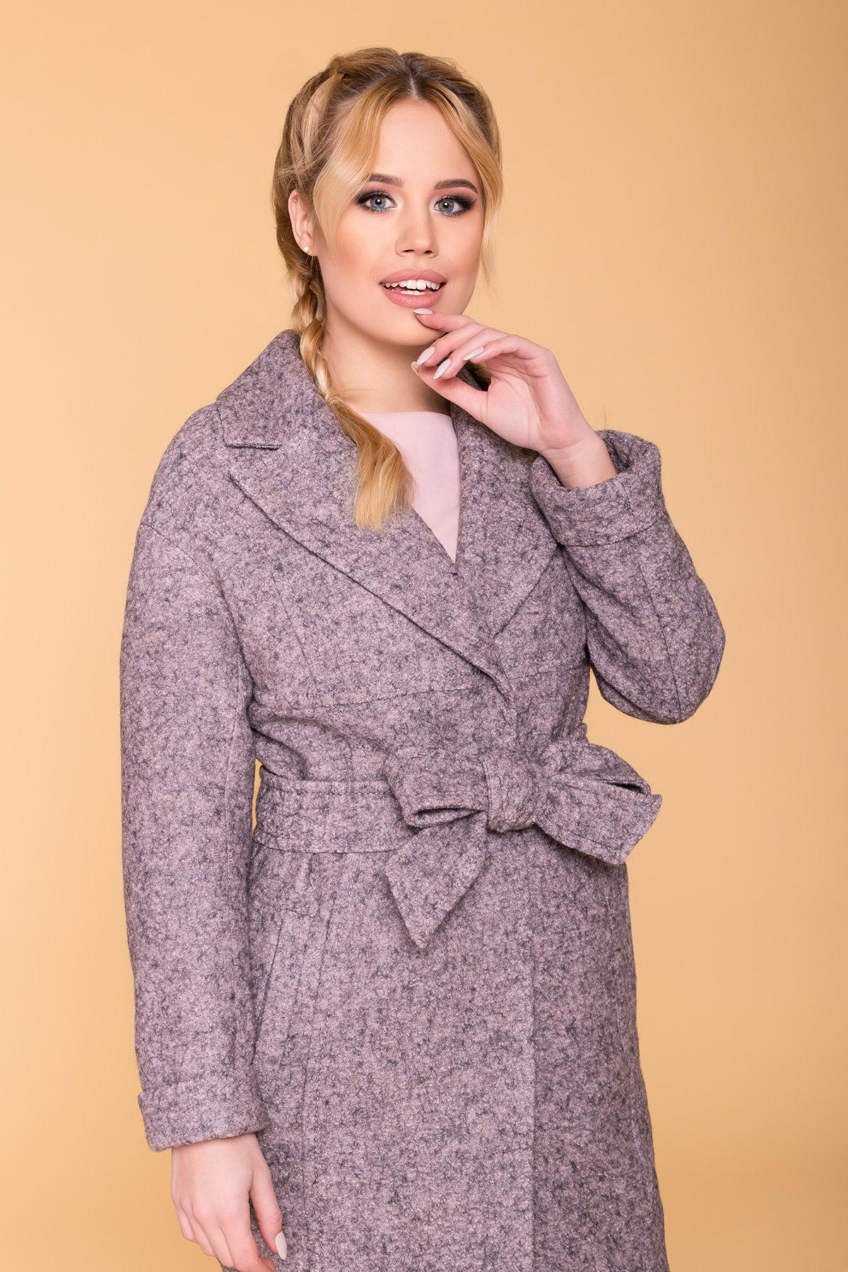 Пальто весна-осень c приспущенной линией плеча Фентези лайт 6365 АРТ. 41230 Цвет: Серо-розовый LW-25 - фото 15, интернет магазин tm-modus.ru