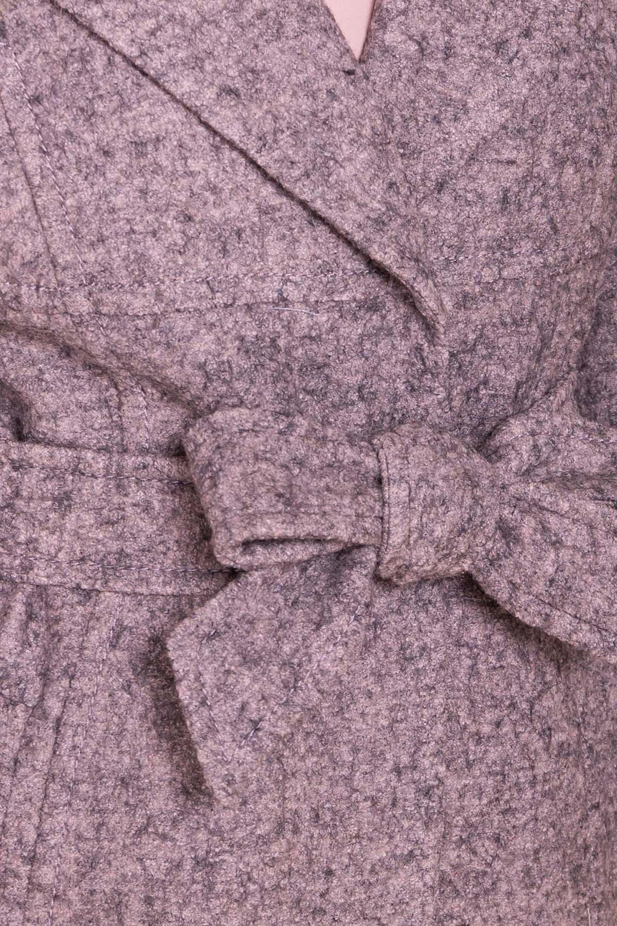 Пальто весна-осень c приспущенной линией плеча Фентези лайт 6365 АРТ. 41230 Цвет: Серо-розовый LW-25 - фото 18, интернет магазин tm-modus.ru