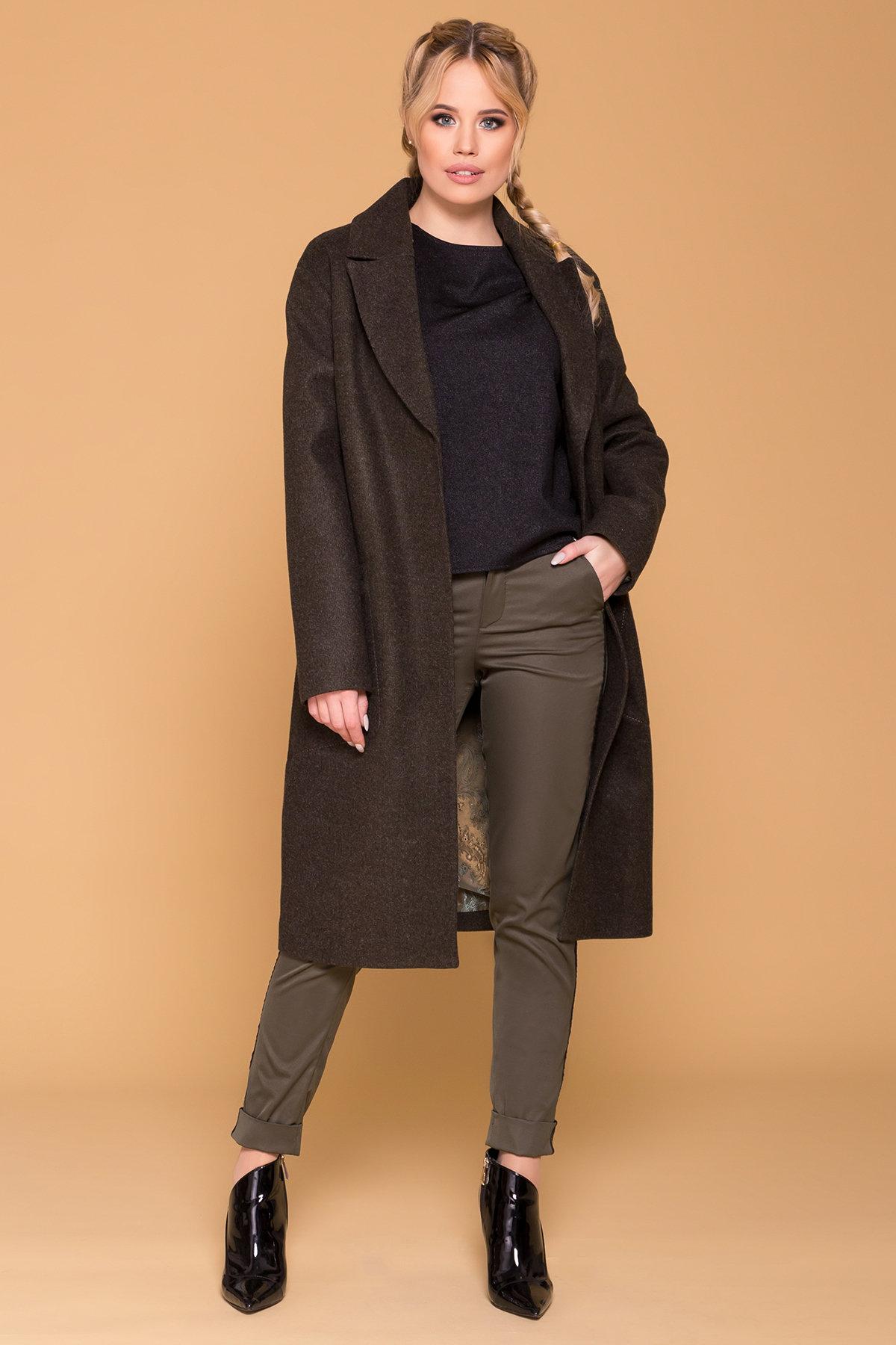 Пальто миди с прорезными карманами Ждана лайт 6337 АРТ. 41149 Цвет: Хаки 16 - фото 3, интернет магазин tm-modus.ru