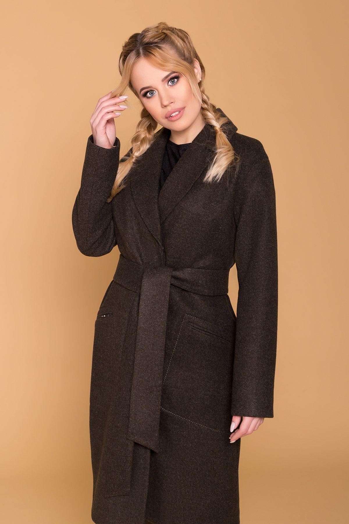 Пальто миди с прорезными карманами Ждана лайт 6337 АРТ. 41149 Цвет: Хаки 16 - фото 5, интернет магазин tm-modus.ru