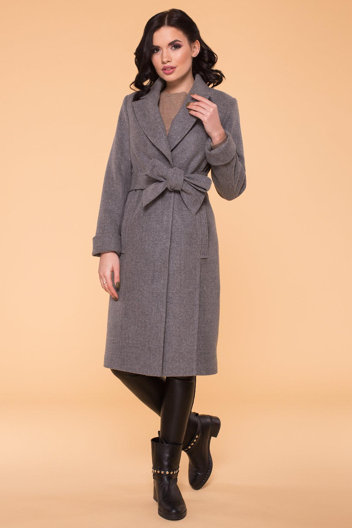Пальто Лесли 6262 АРТ. 41034 Цвет: Серый 18 - фото 1, интернет магазин tm-modus.ru