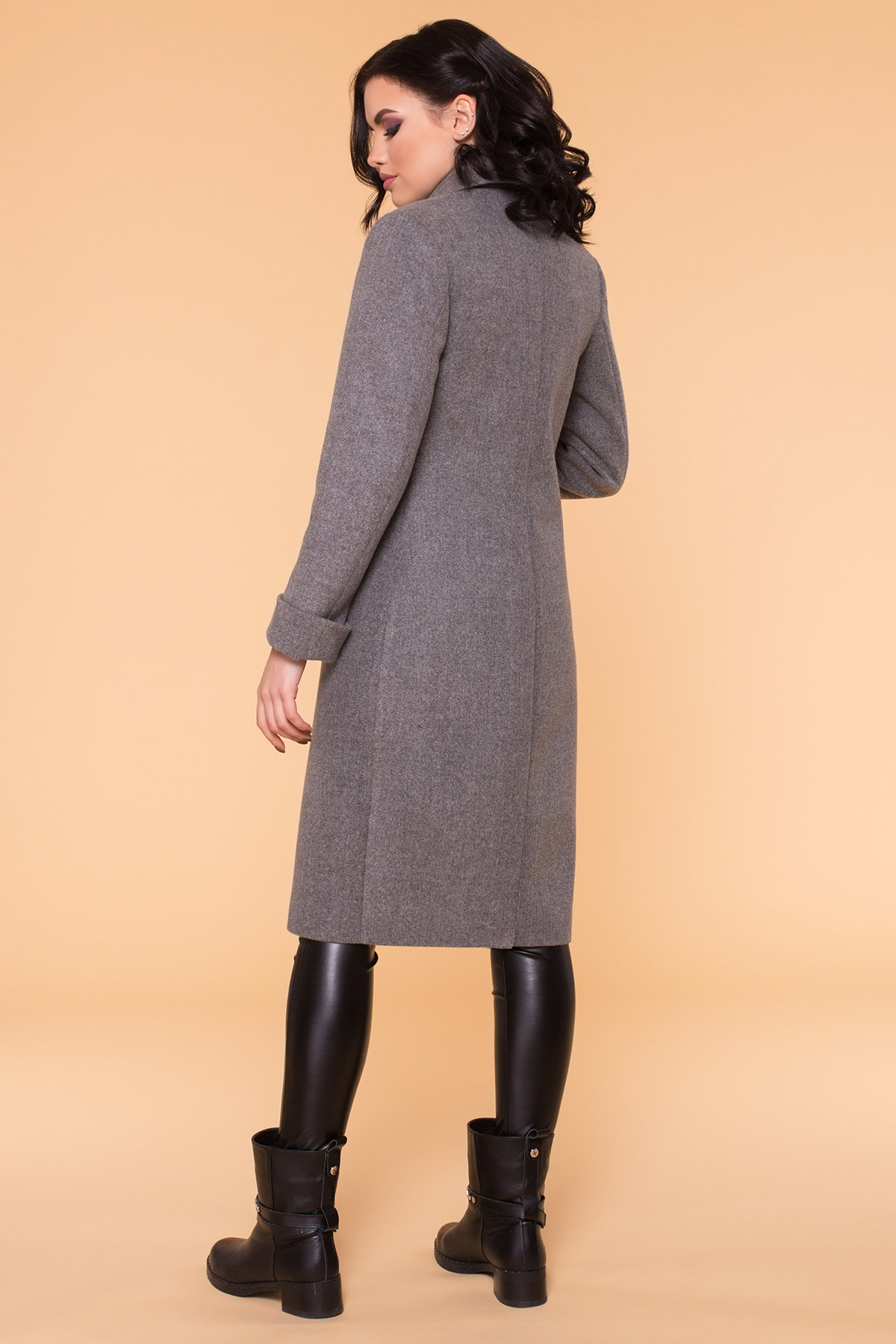 Пальто Лесли 6262 АРТ. 41034 Цвет: Серый 18 - фото 3, интернет магазин tm-modus.ru
