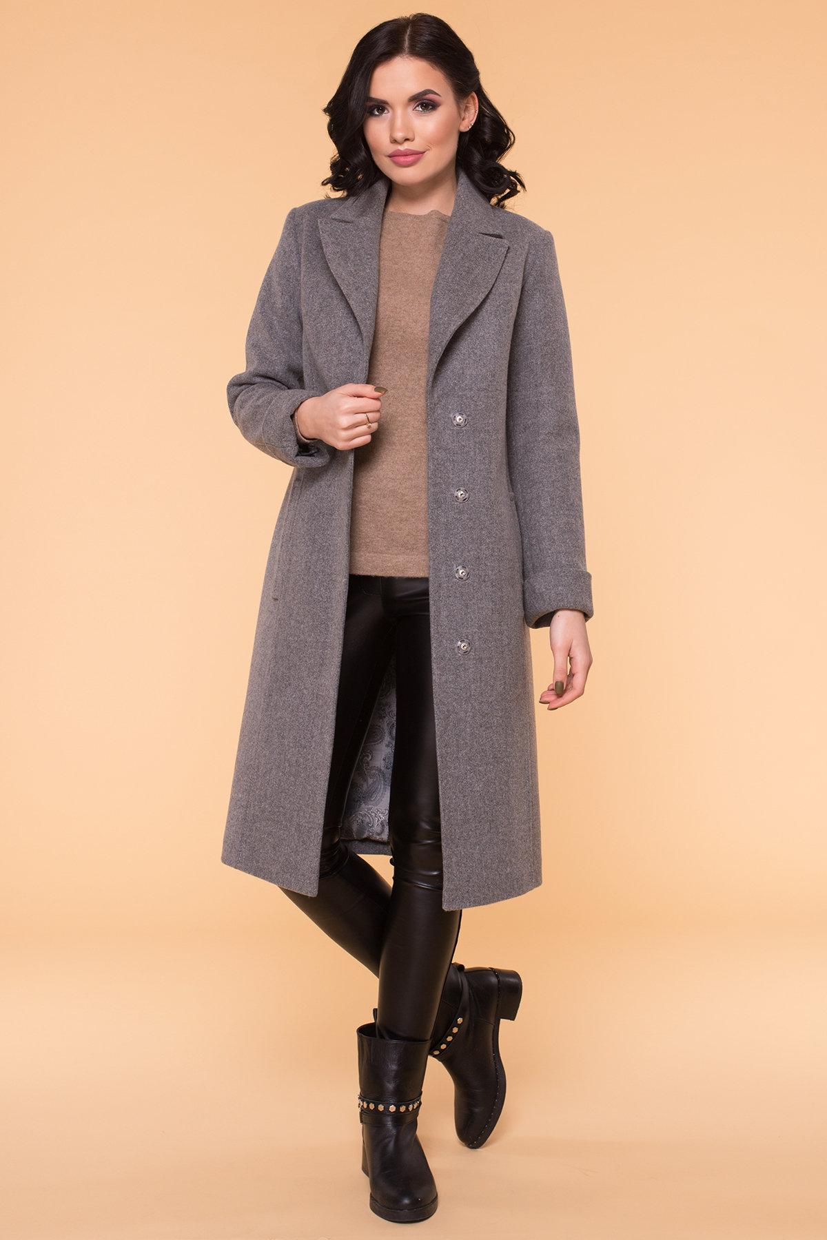 Пальто Лесли 6262 АРТ. 41034 Цвет: Серый 18 - фото 5, интернет магазин tm-modus.ru